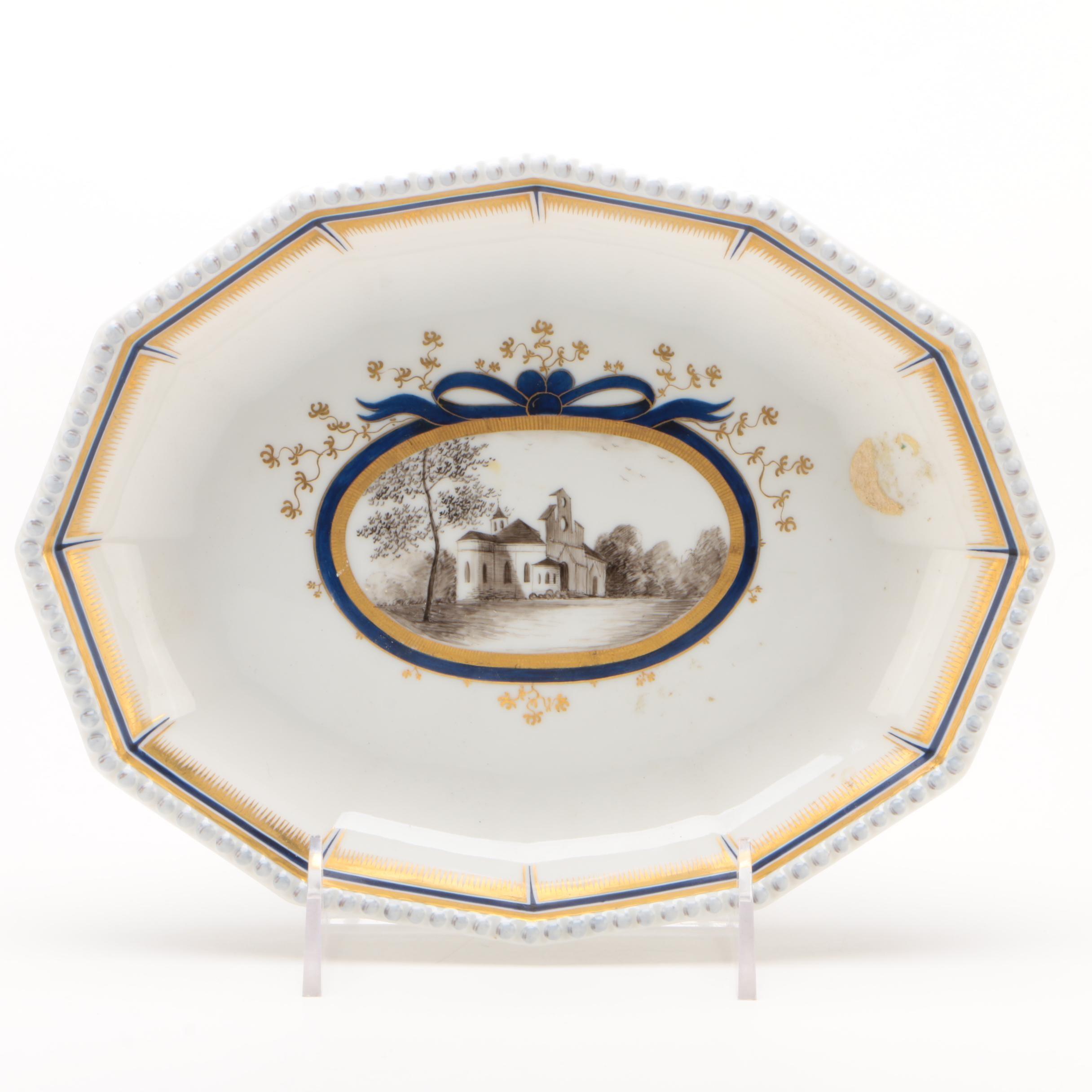 Nymphenburg Porcelain Bowl with Magdalenen Kapelle Scene, 1910-1975