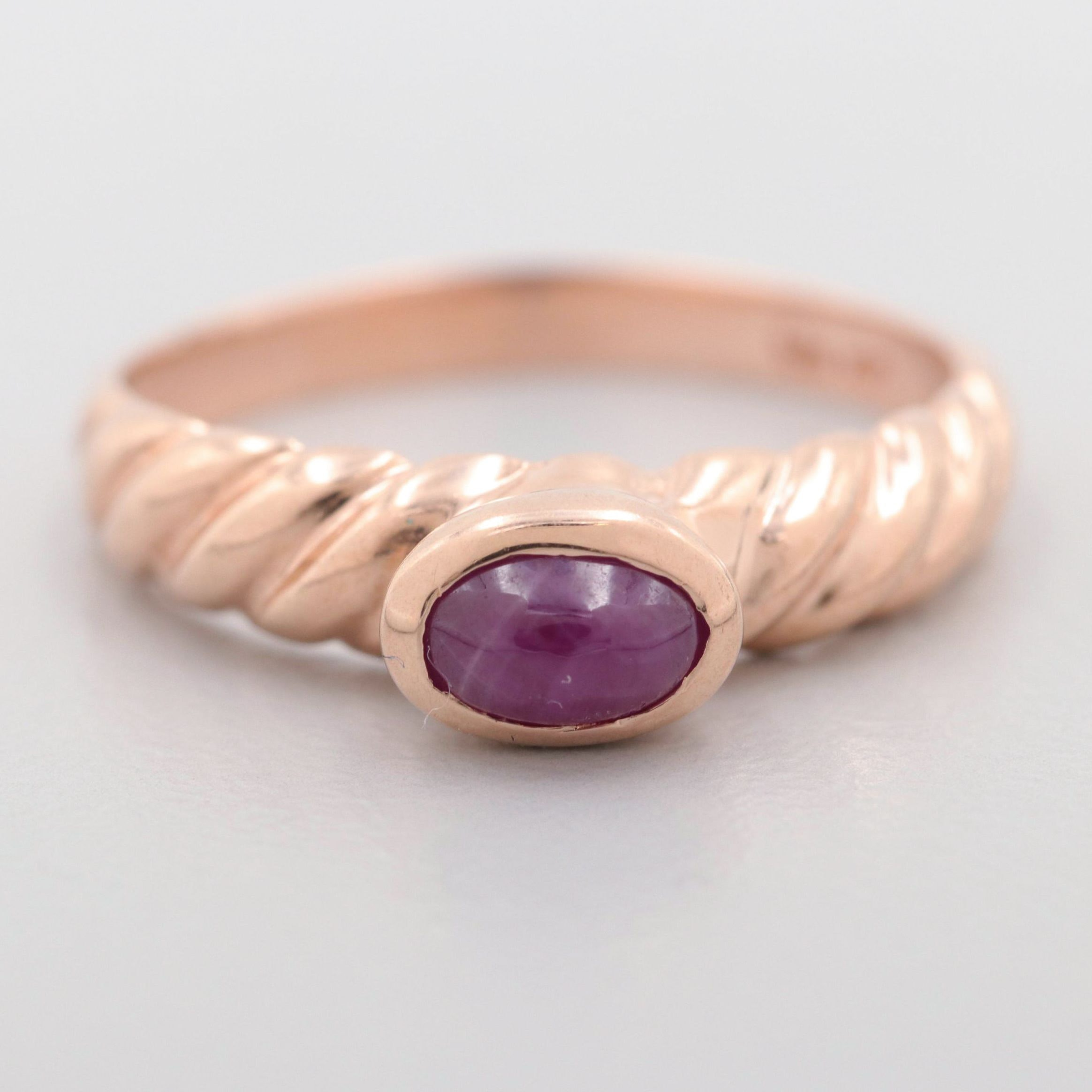 10K rose Gold Ruby Ring