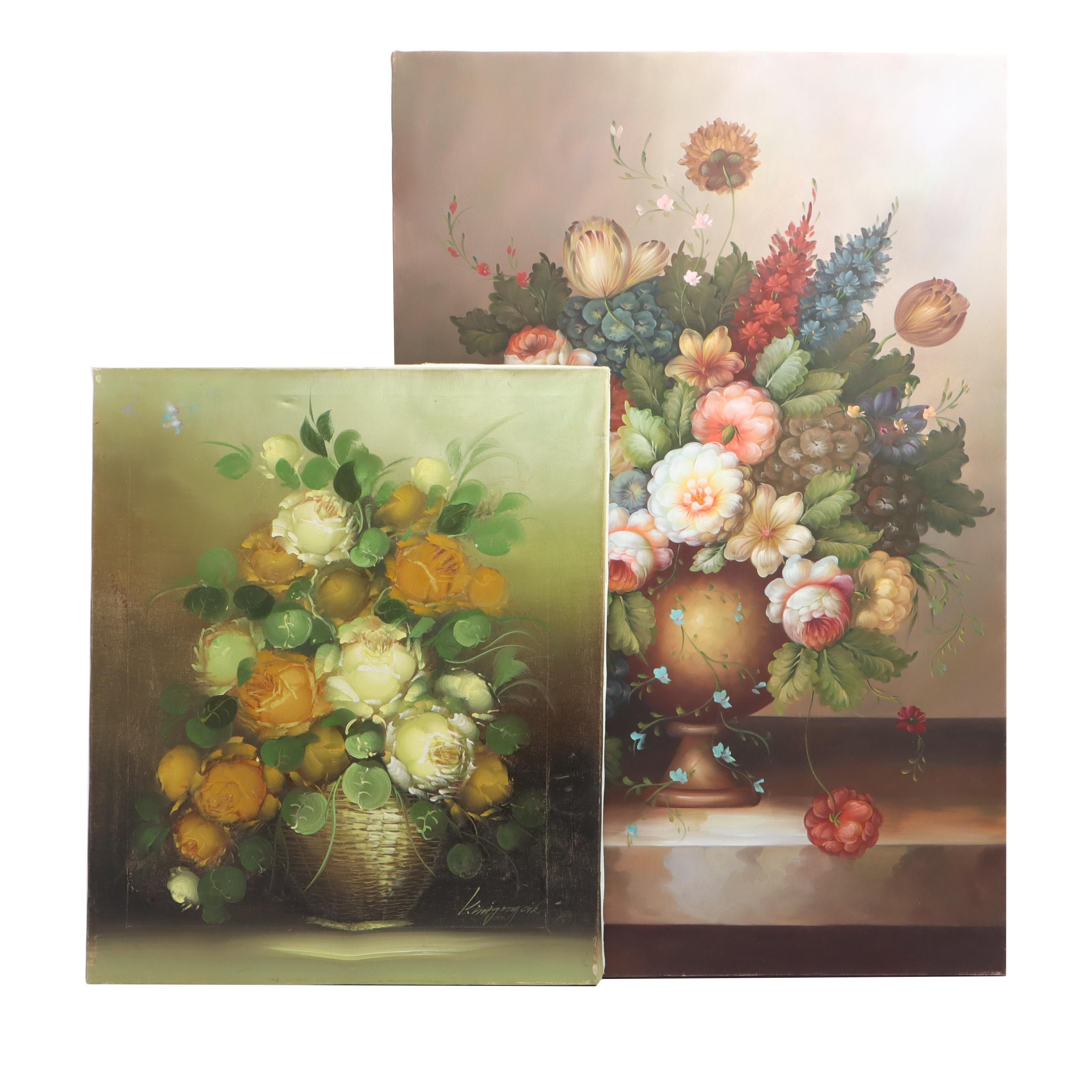 Floral Still Life Oil Paintings
