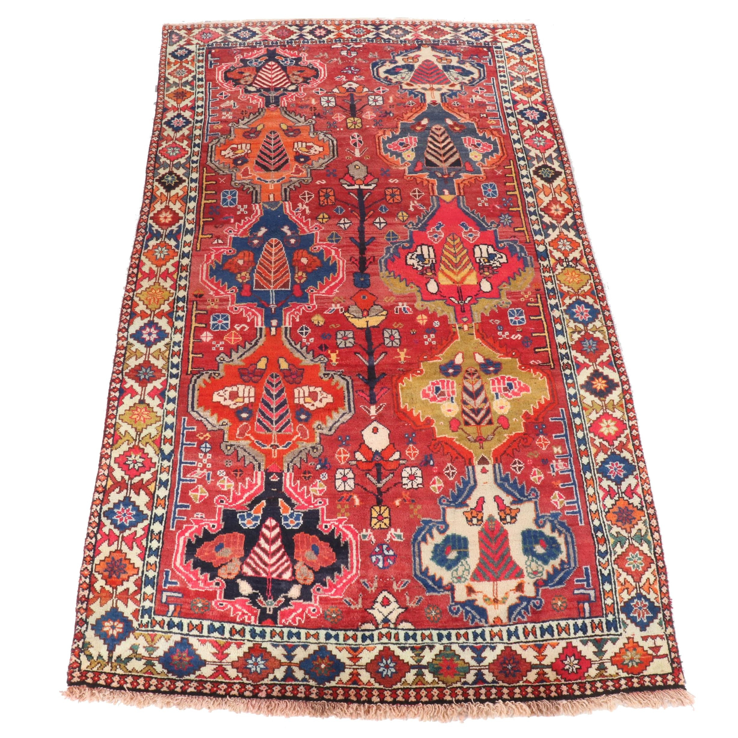 Hand-Knotted Persian Bakhtiari Wool Rug