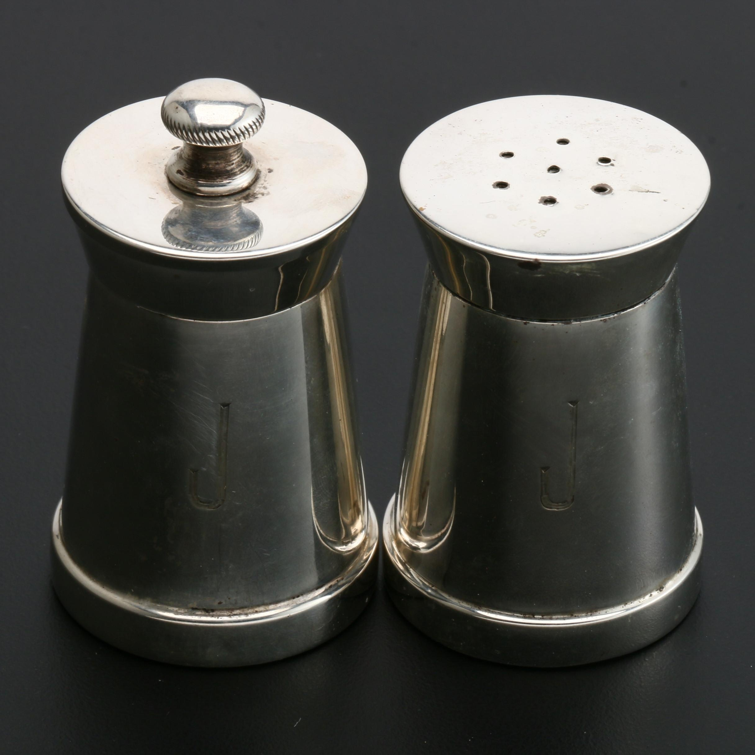 Black Starr & Gorham Weighted Sterling Salt Shaker and Pepper Mill