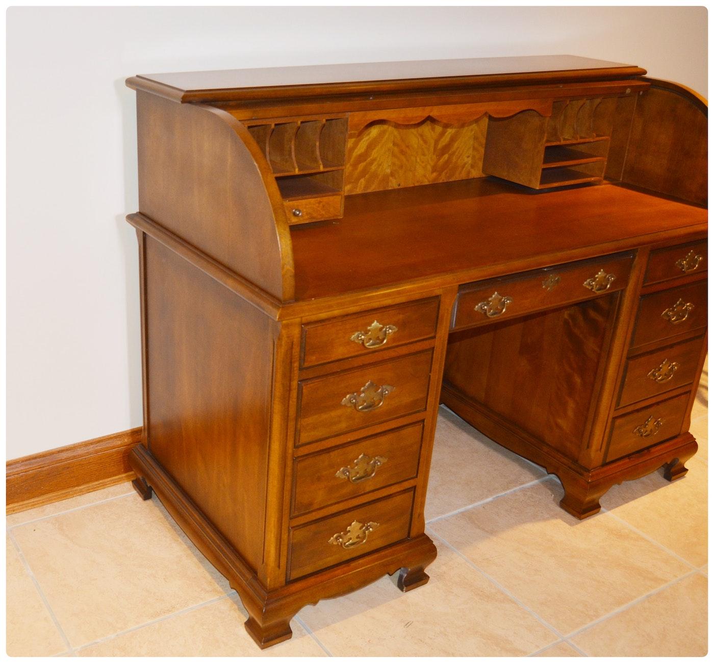 Jasper Cabinet Roll-Top Desk and Drexel-Heritage Swivel ...