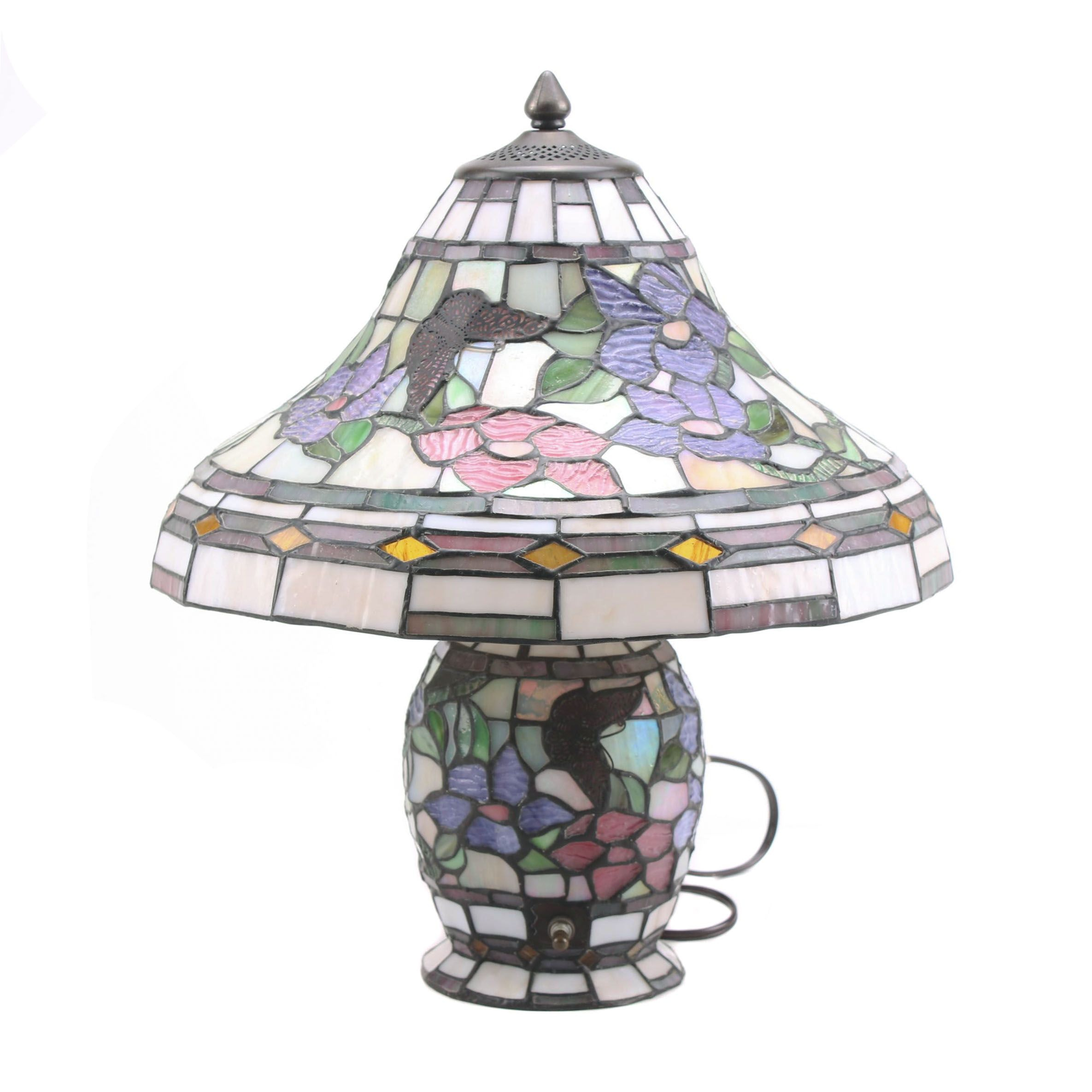 Contemporary Tiffany Style Stained Glass Table Lamp