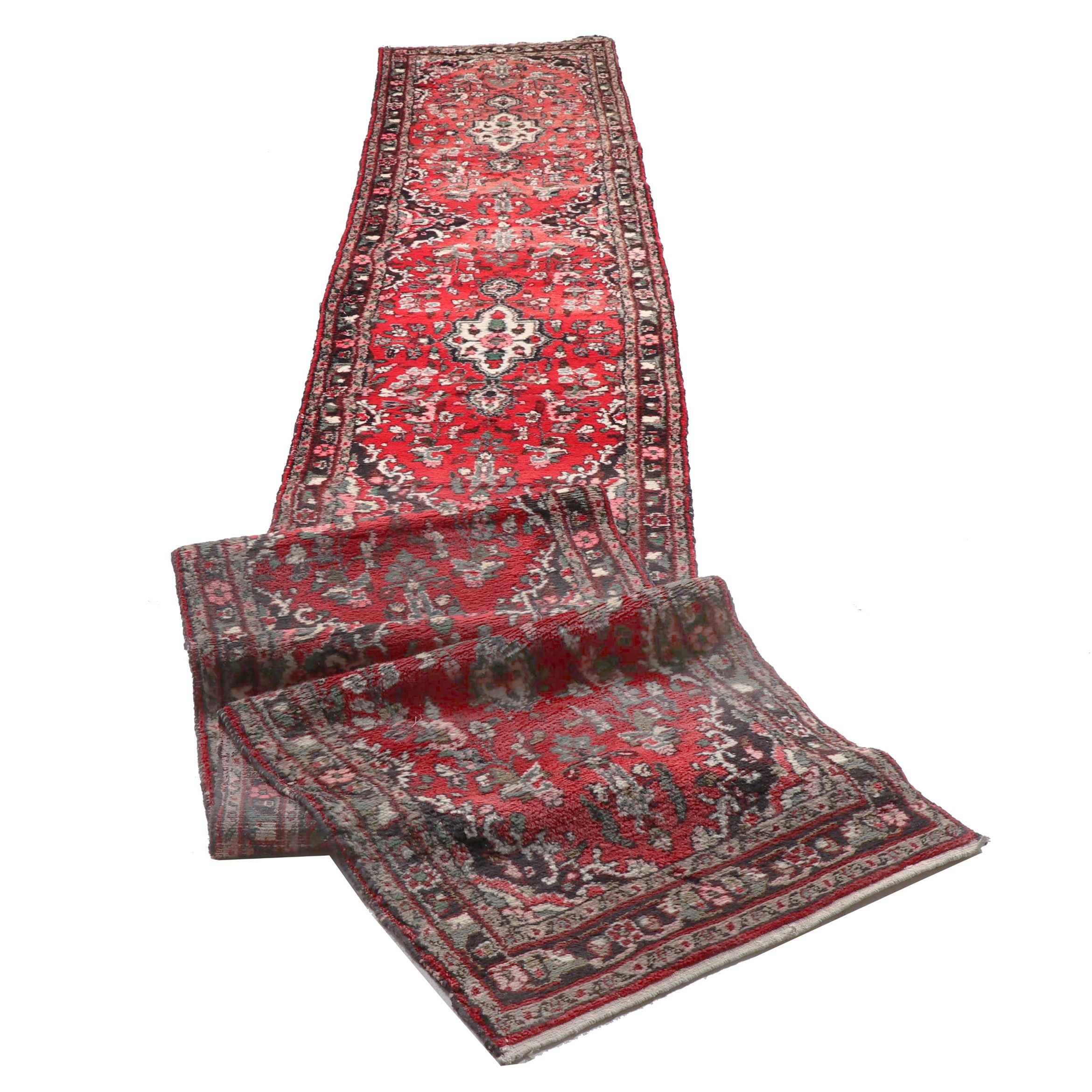 Hand-Knotted Persian Lilihan Carpet Runner