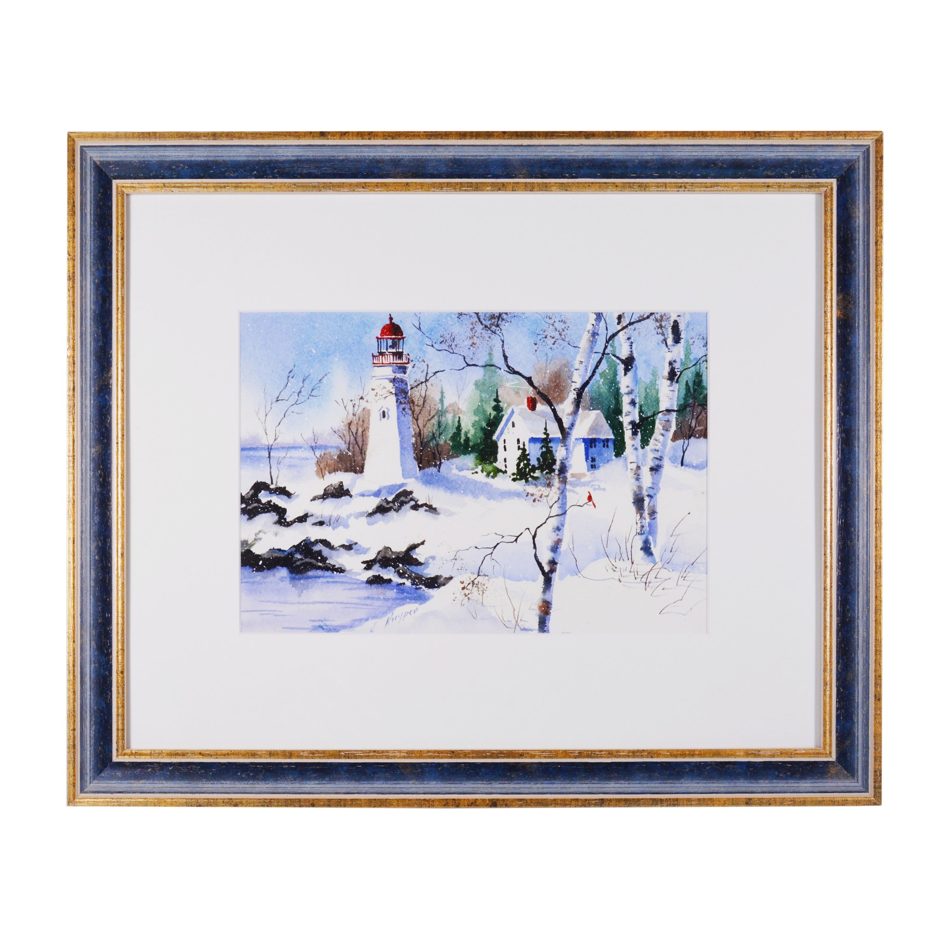 Kathy Kuyper Watercolor Painting of a Winter Scene