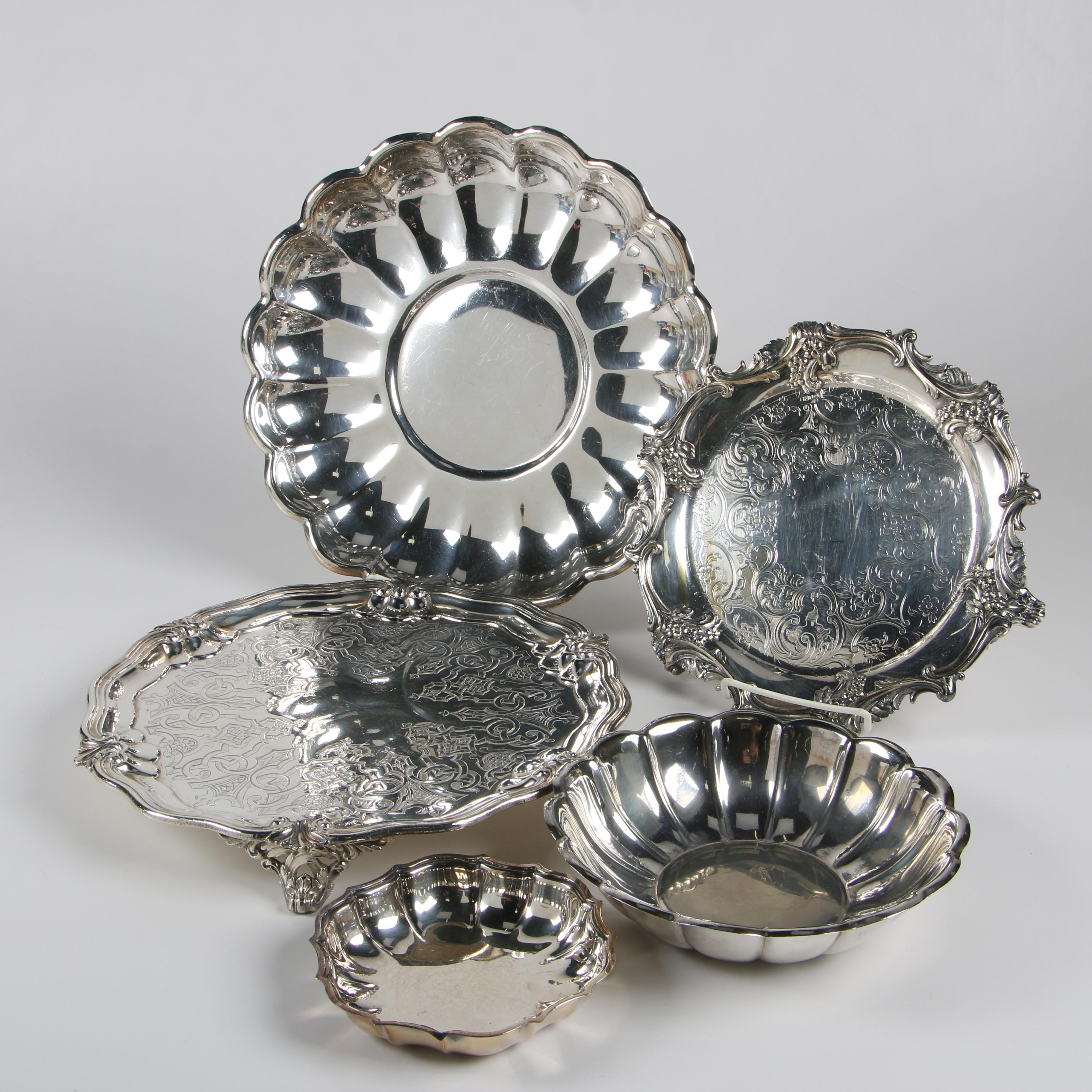 Reed & Barton and Chippendale International Silver Plate Serveware