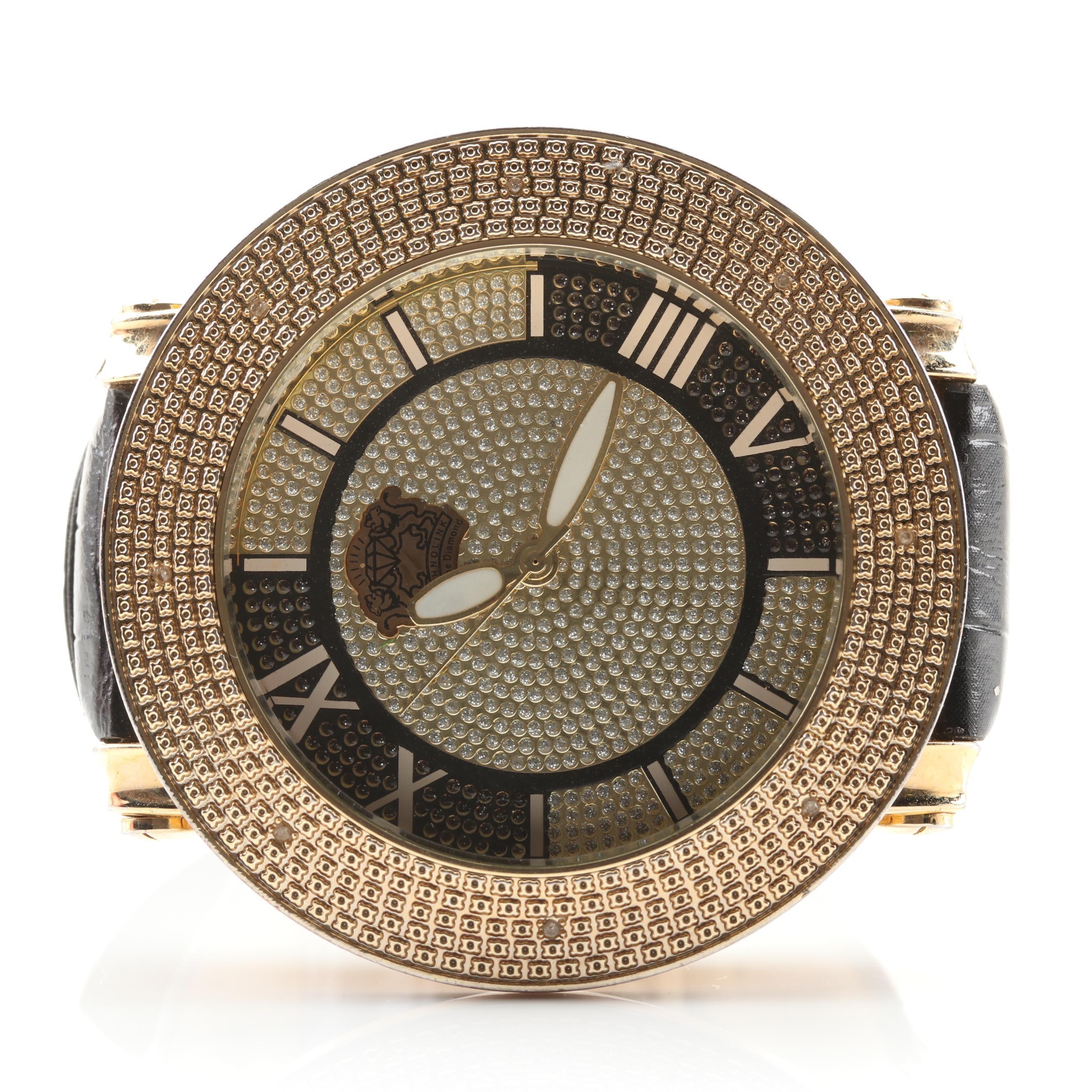 Technolink Bezel Set Diamond Wristwatch