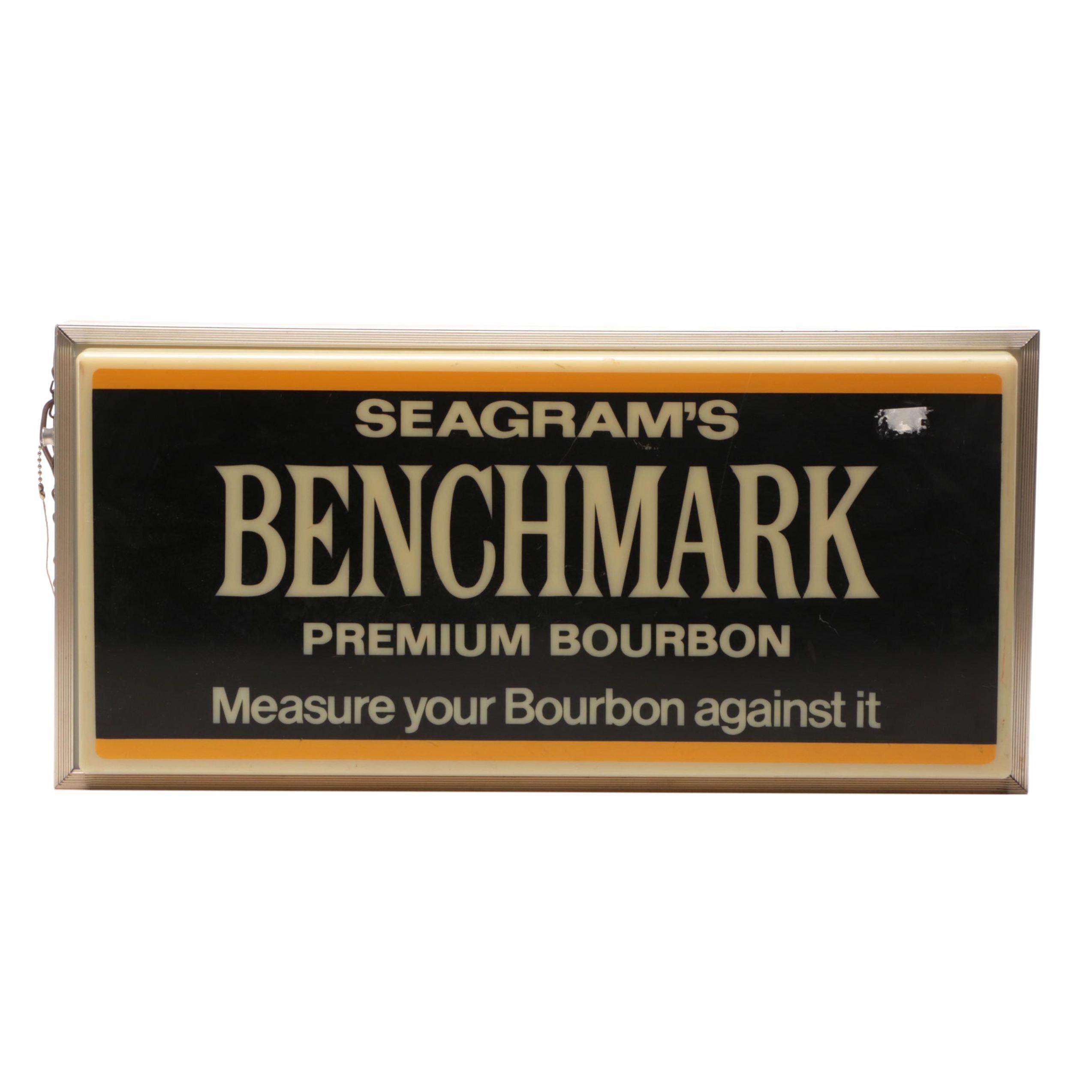 Seagrams's Benchmark Premium Bourbon Illuminated Electric Advertising Sign