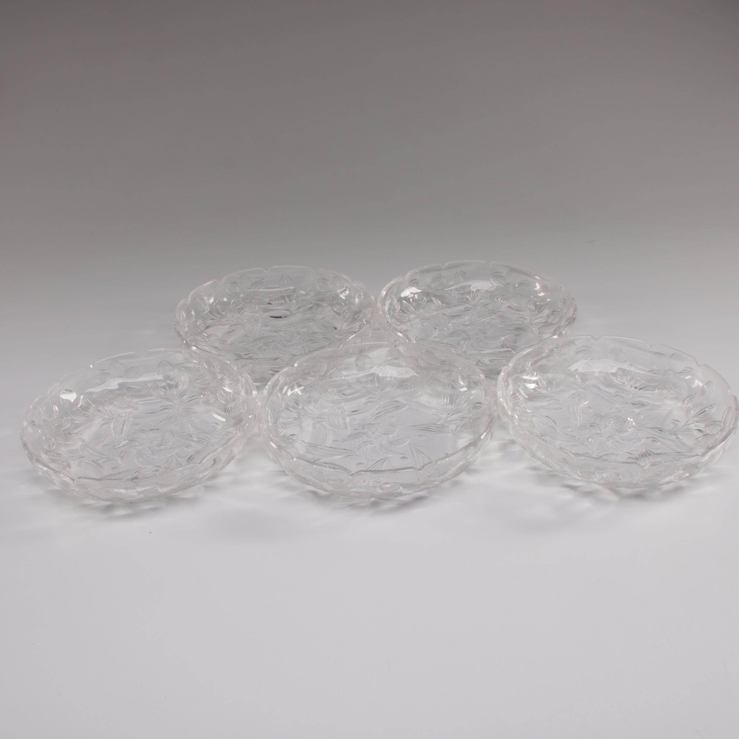 American Cut Glass Salad Bowls, Early 20th Century