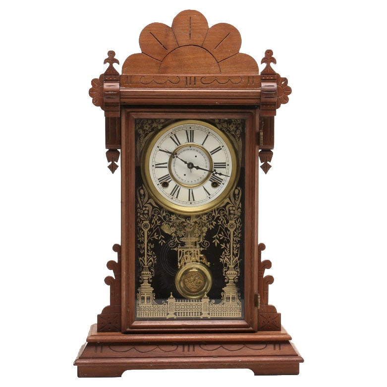 F. Kroeber Calendar Shelf Clock, Late 19th to Early 20th Century