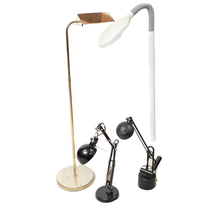 Adjustable Desk Lamps, Brass Floor Lamp and Ott Light