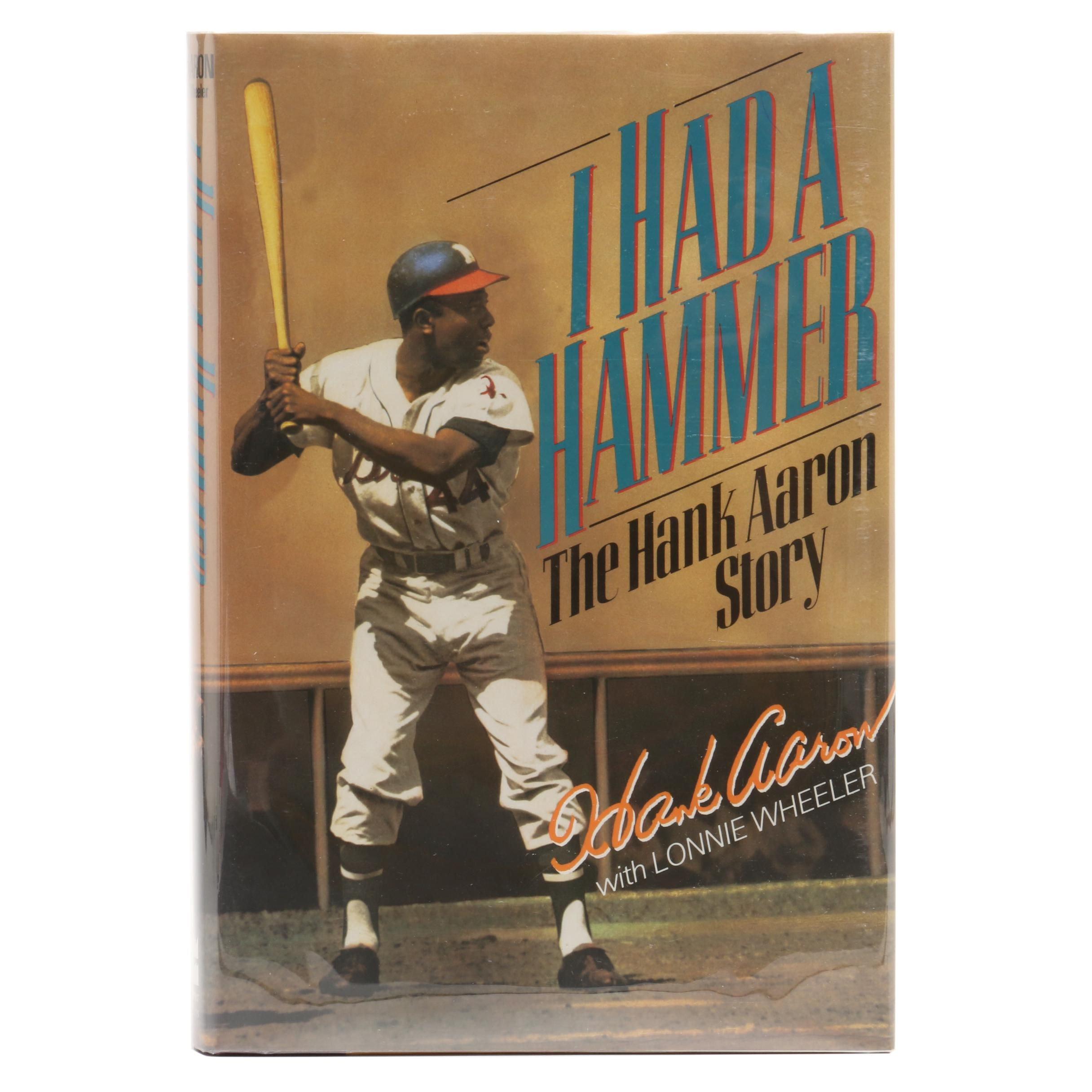 "1991 Hank Aaron Signed ""I Had a Hammer"" Baseball Hardcover Book Visual COA"