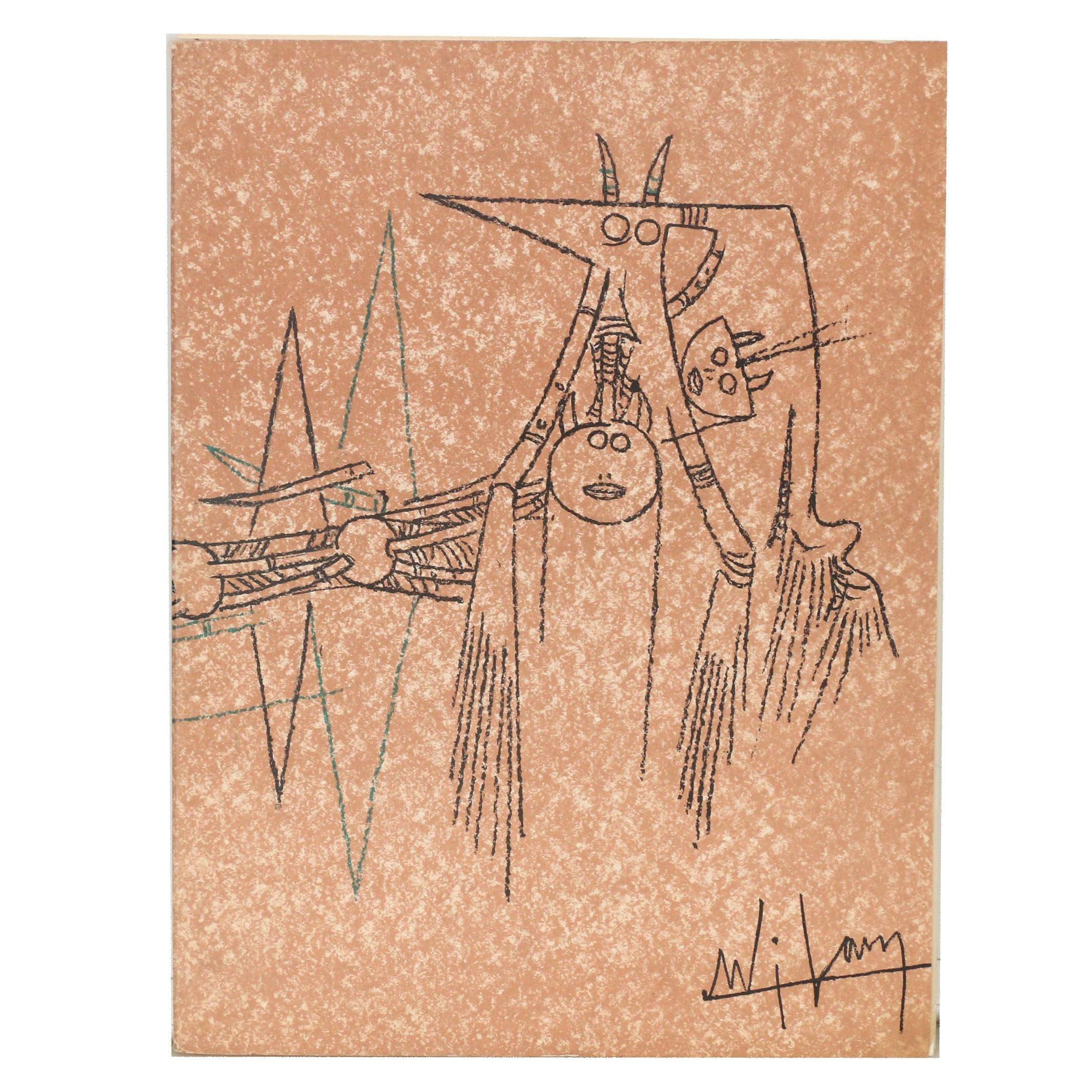"""Wilfredo Lam 1963 Portfolio of Lithographs """"Suites N°3"""""""