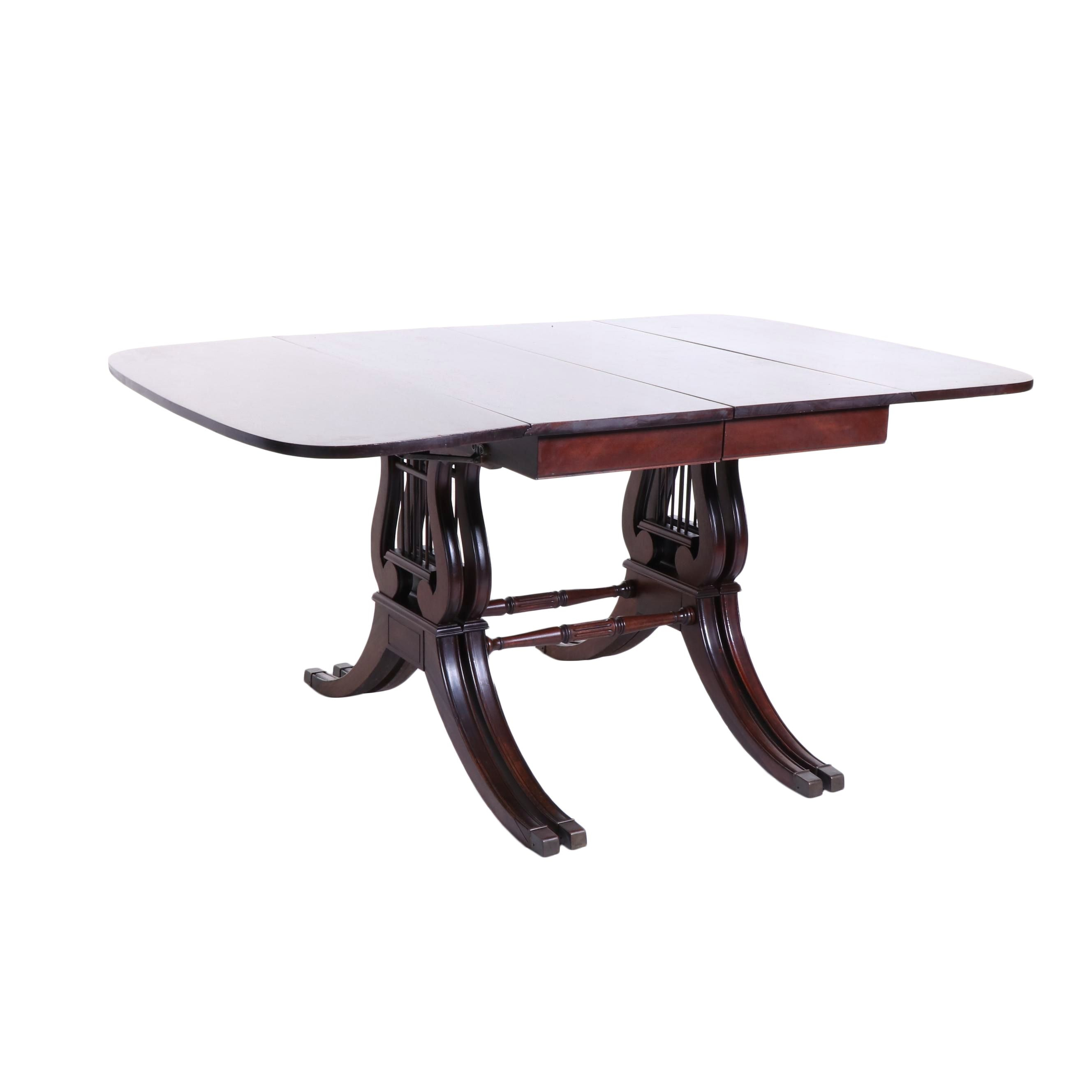 Duncan Phyfe Style Mahogany Dining Table, Early to Mid 20th Century