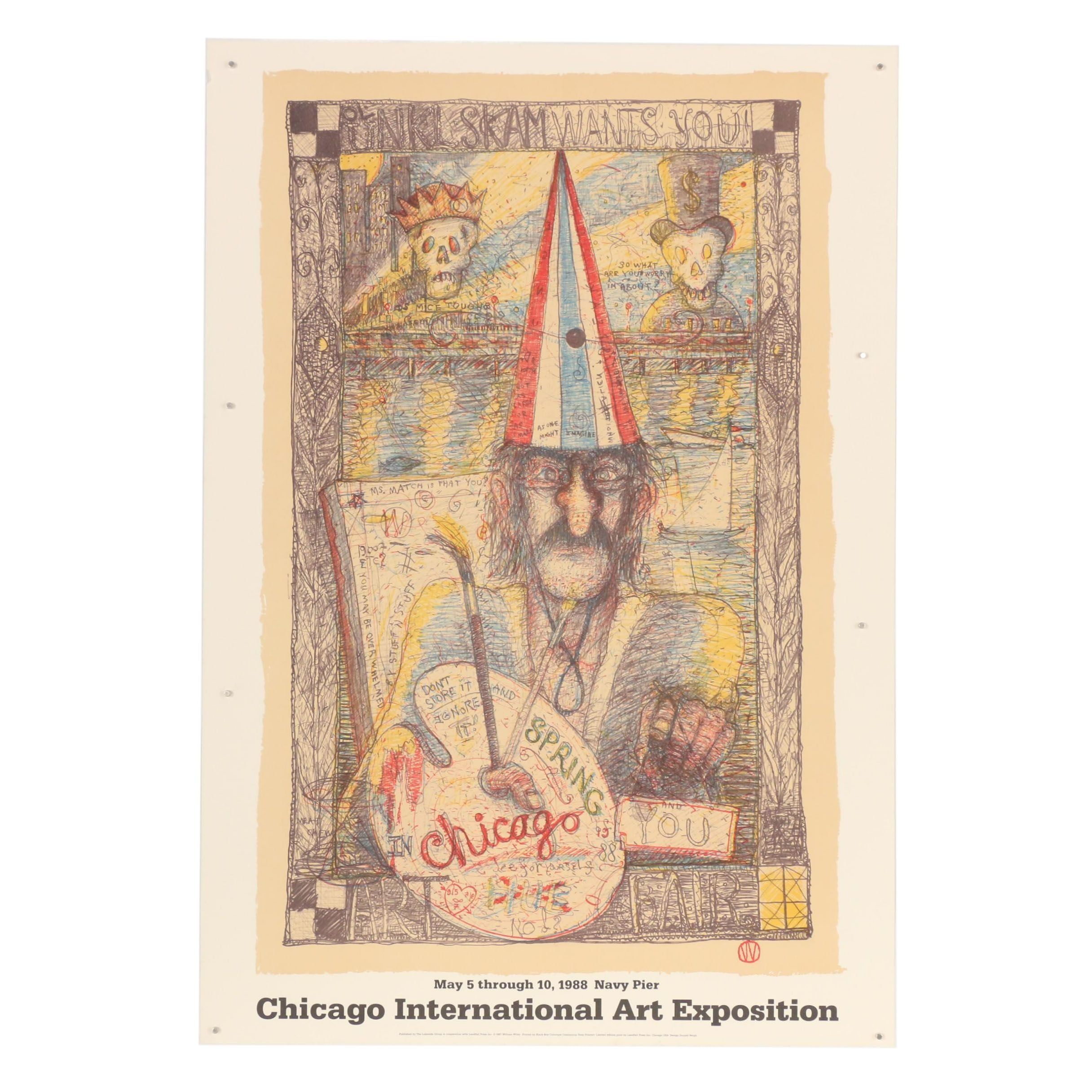 1988 Chicago International Art Exposition Lithograph after William T. Wiley