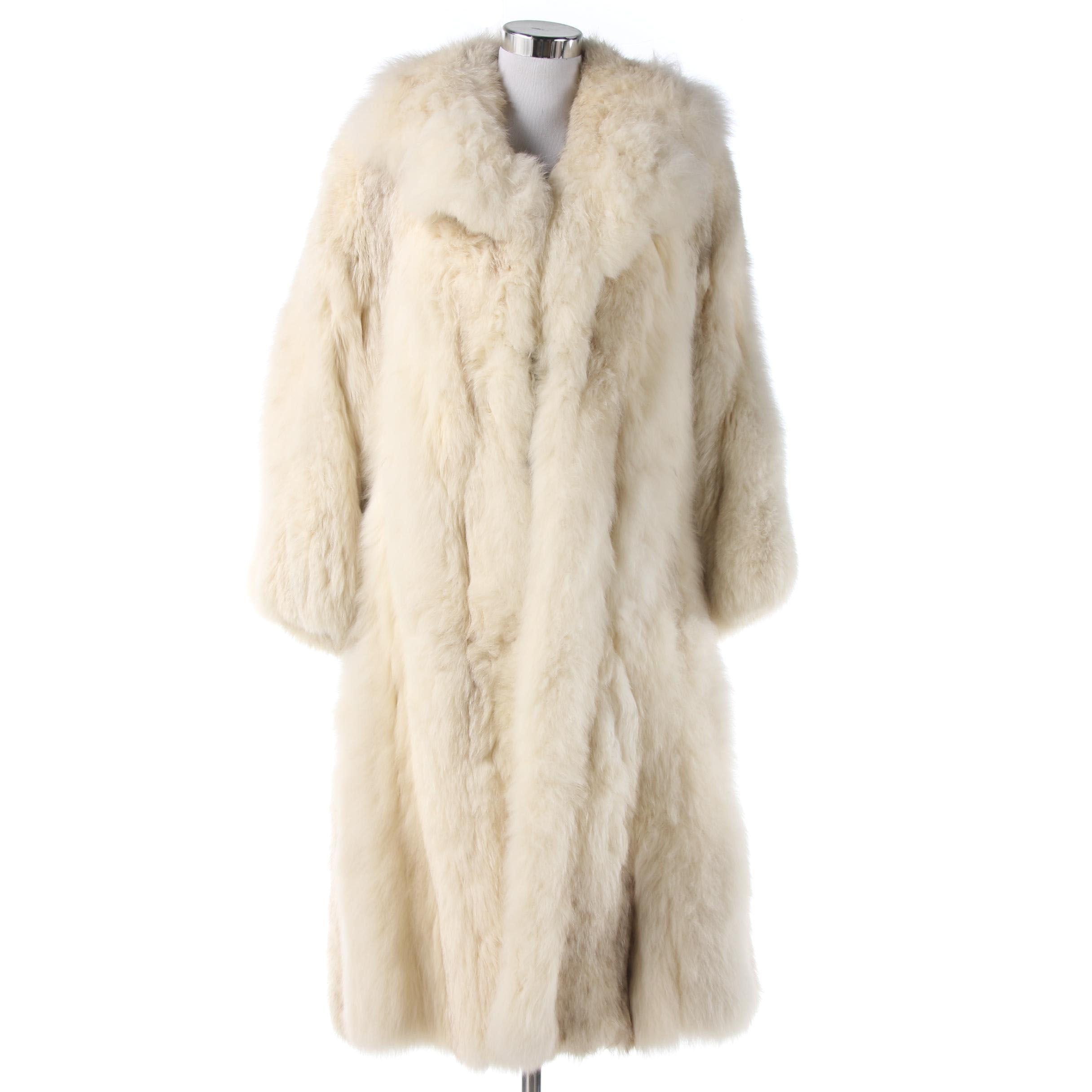 Davellin New York Fox Fur Coat, 1970s Vintage