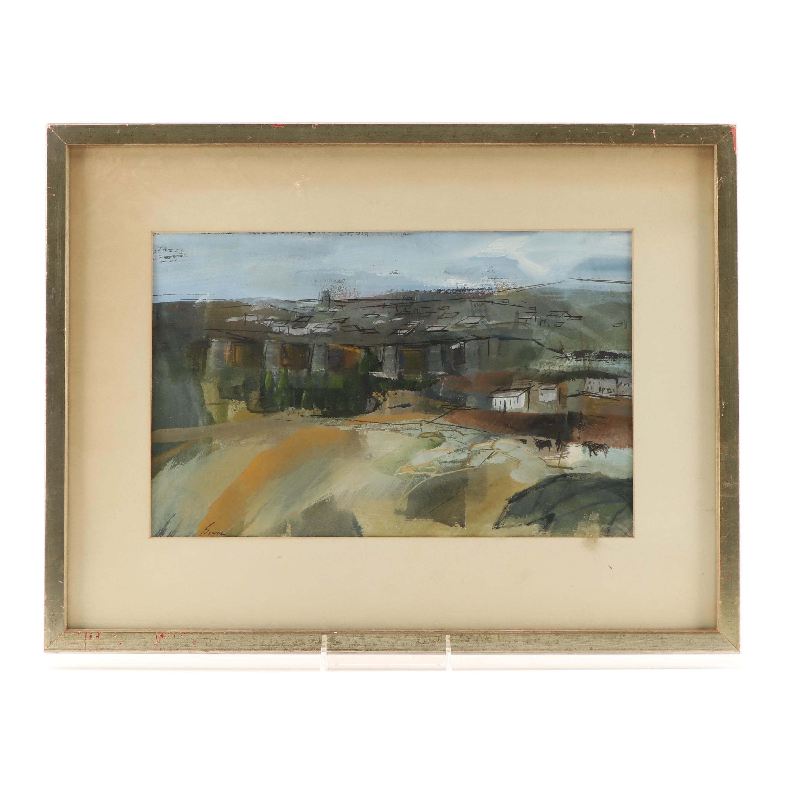 Betty Bowes Mixed Media Landscape Painting
