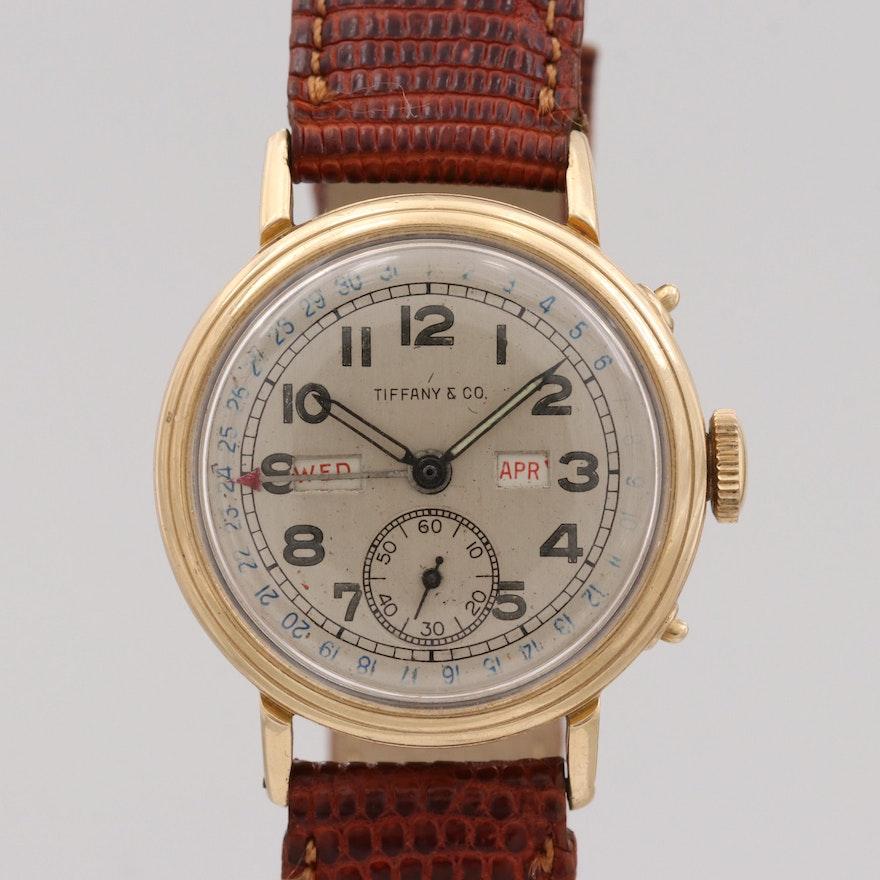 77b0ad42b Vintage Tiffany & Co. 14K Yellow Gold Triple Calendar Stem Wind Wristwatch,  1940 | EBTH