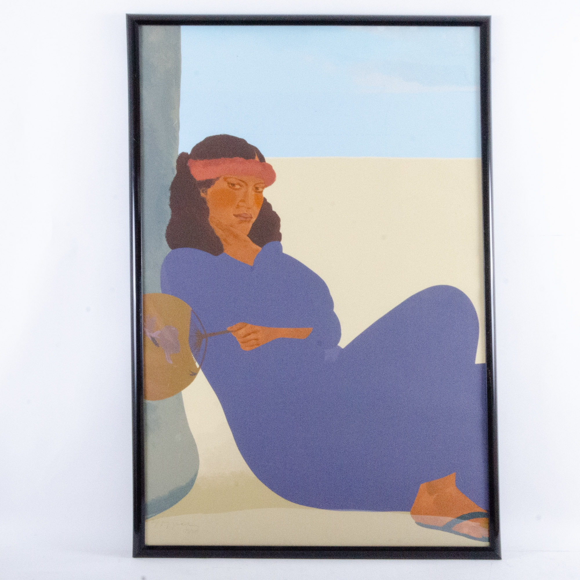 "Pegge Hopper Serigraph ""Ala Moana Morning Diptych"""