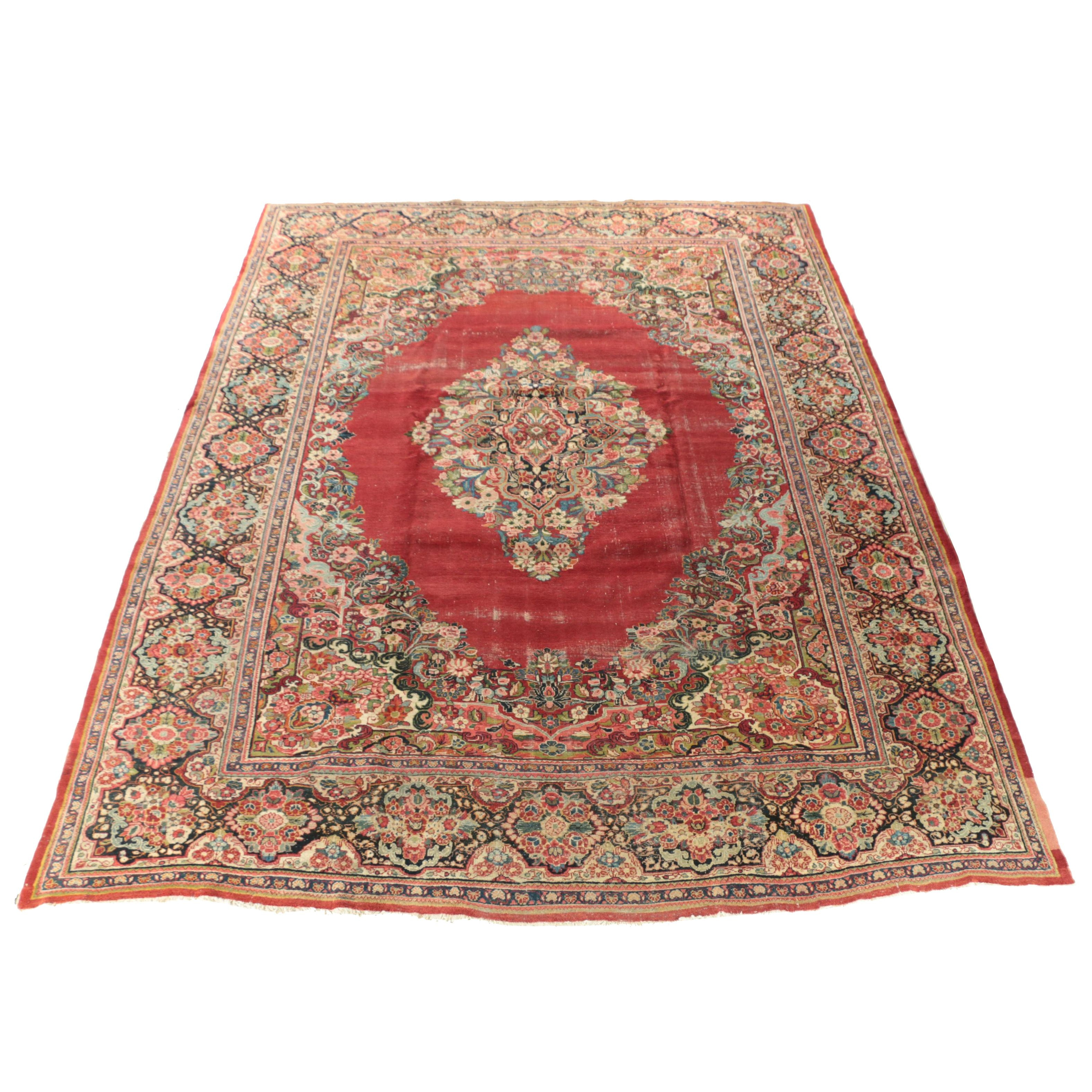 Hand-Knotted Persian Mahal Wool Palace Sized Rug