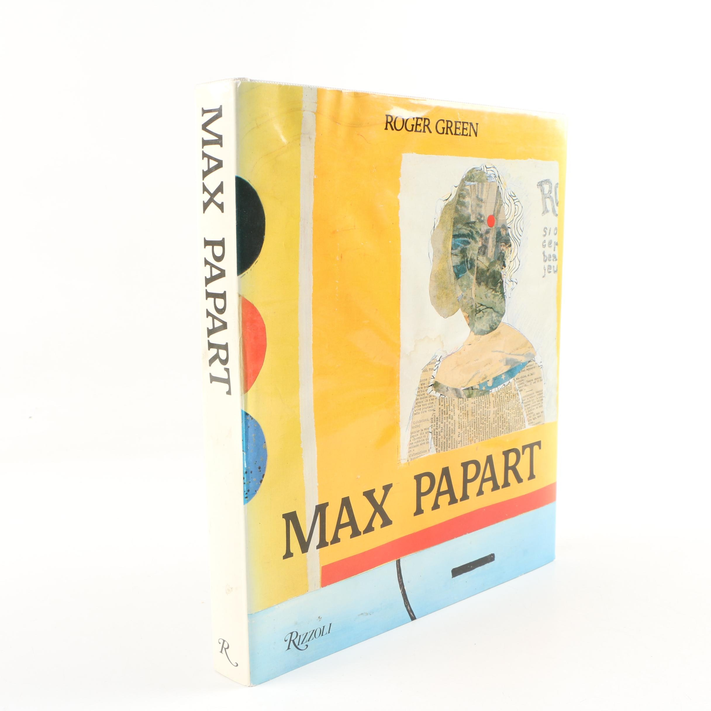 "Max Papart Signed 1984 ""Max Papart"" by Roger Green with Lithograph"