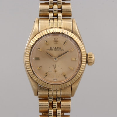 Vintage Rolex Oyster Perpetual 14K and 18K Yellow Gold Automatic Wristwatch,1958