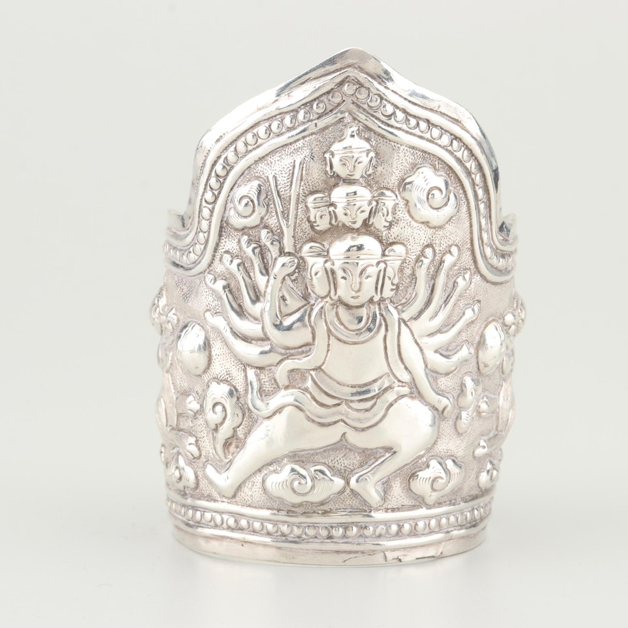 Sterling Silver Hindu Cuff Bracelet