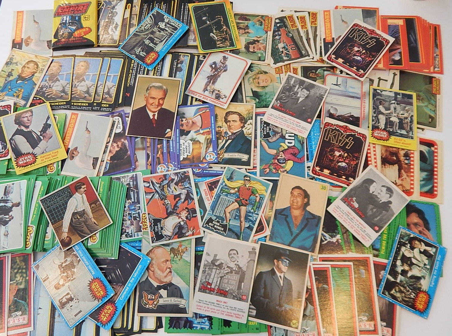 Non-Sports Trading Cards from 1960s to Early 1980s- Around 350 Count