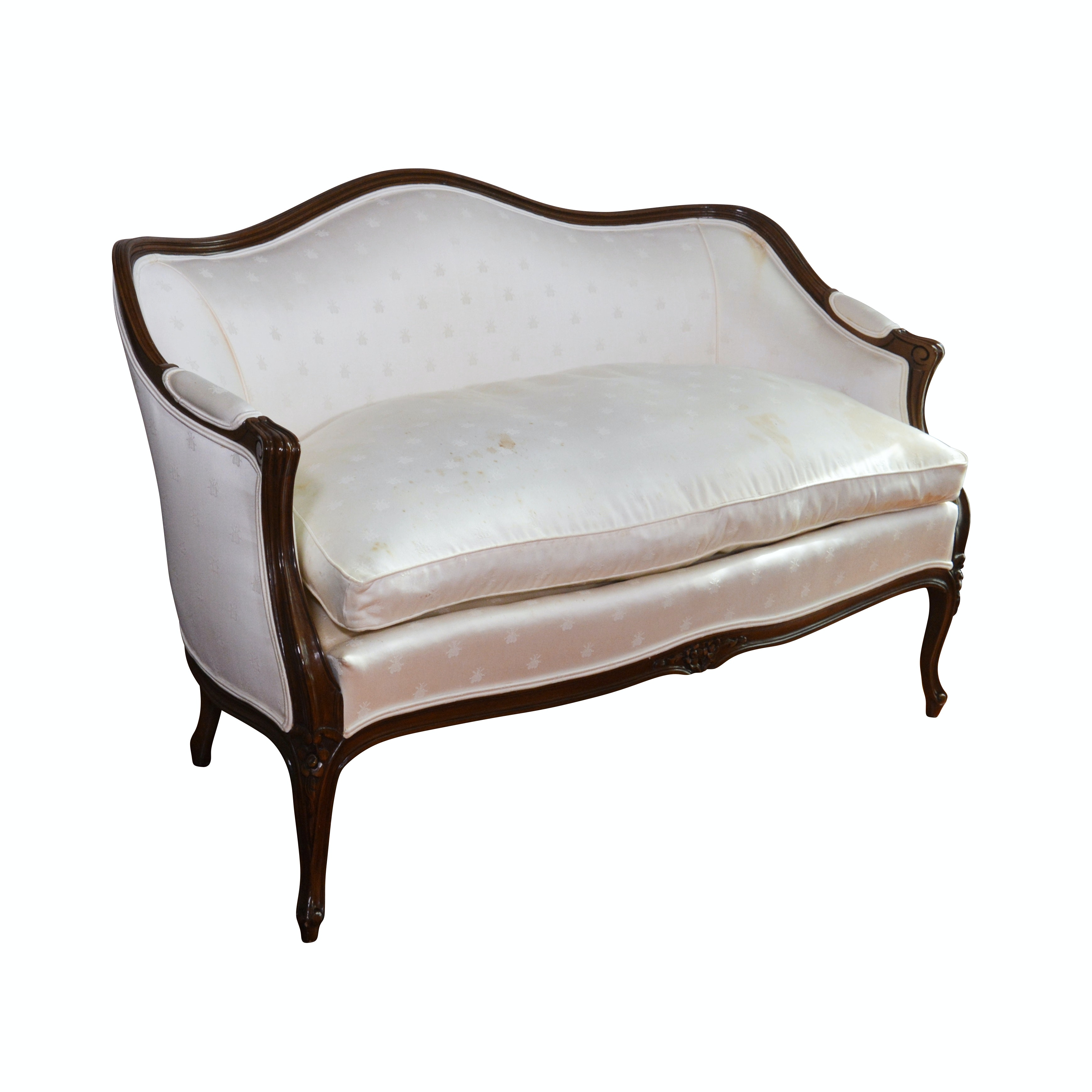 Karges Louis XV Wooden Upholstered Settee, Contemporary