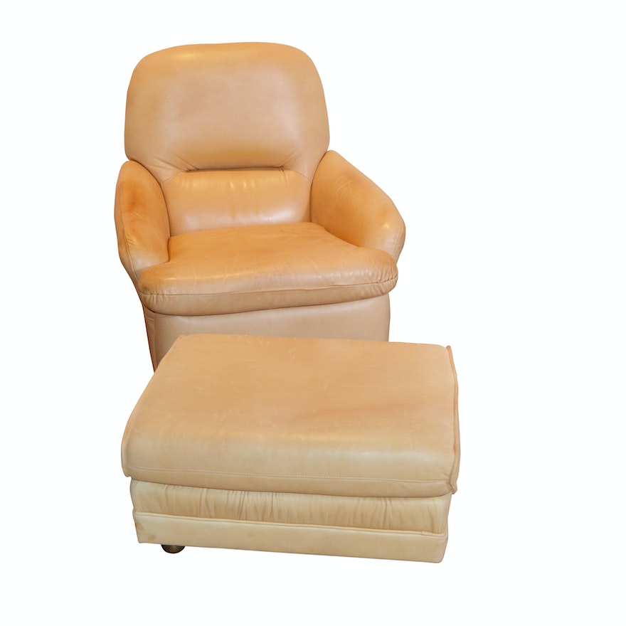 Peachy Leathercraft Leather Recliner And Ottoman Contemporary Dailytribune Chair Design For Home Dailytribuneorg