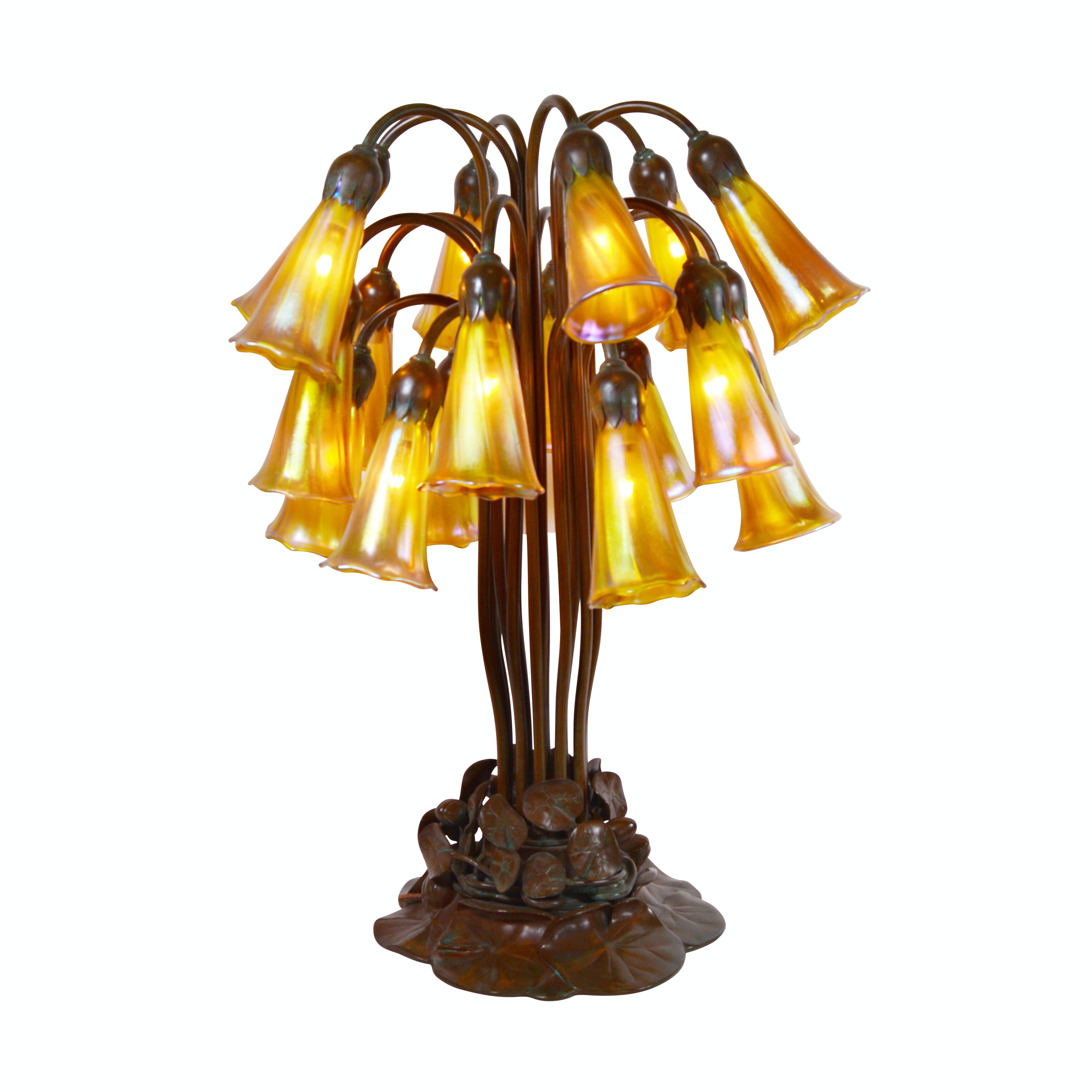 "Buffalo Metal Works Bronze ""Lily"" Accent Lamp"