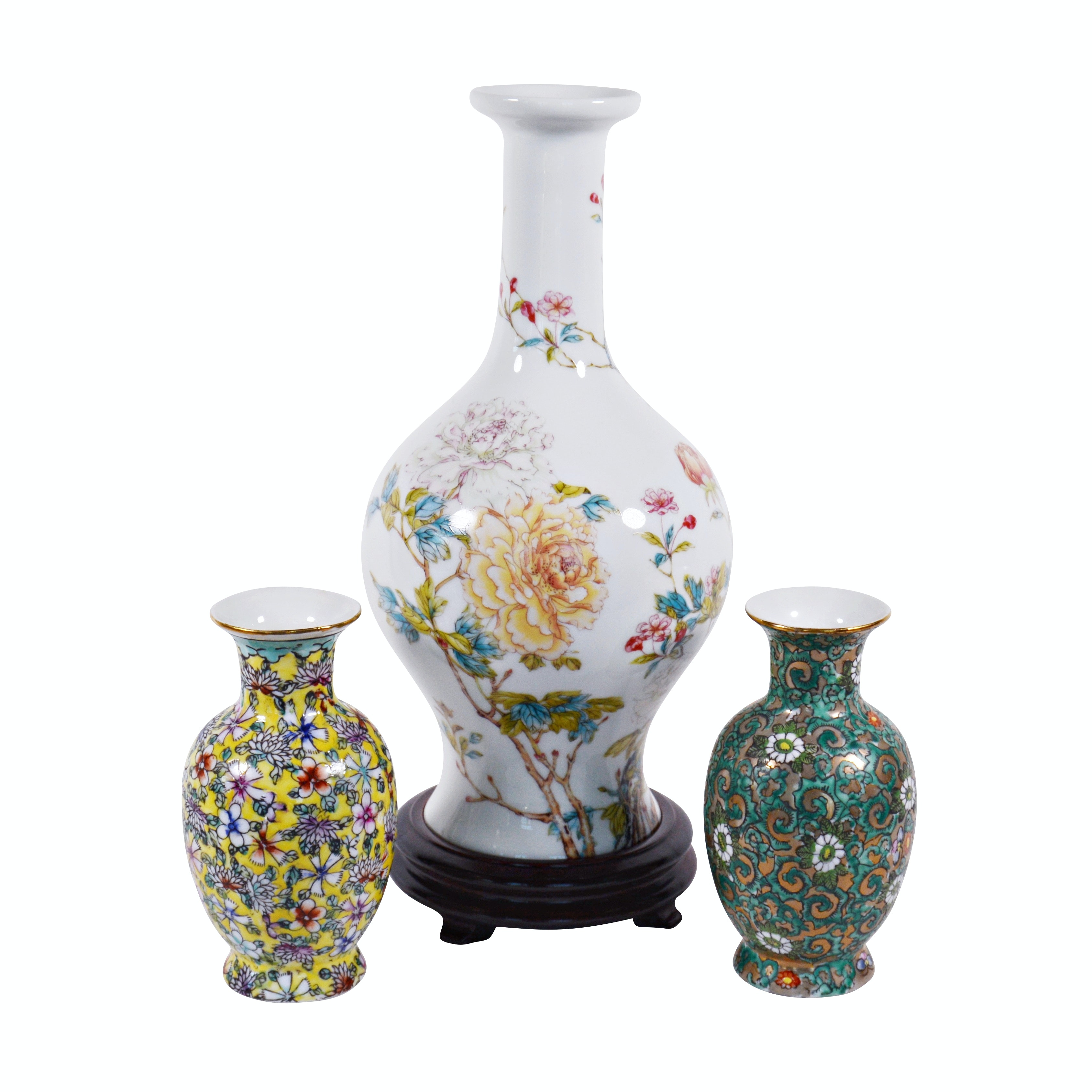 Lenox Porcelain Vase and Other Chinese Vases