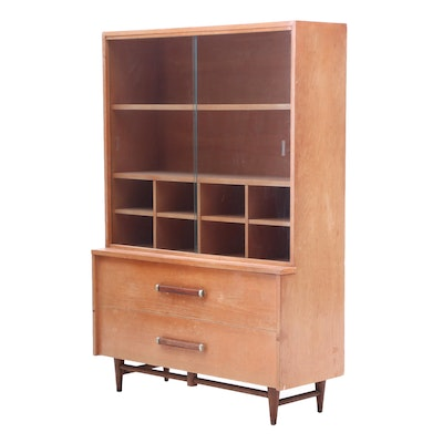 American of Martinsville Mid Century Modern China Cabinet