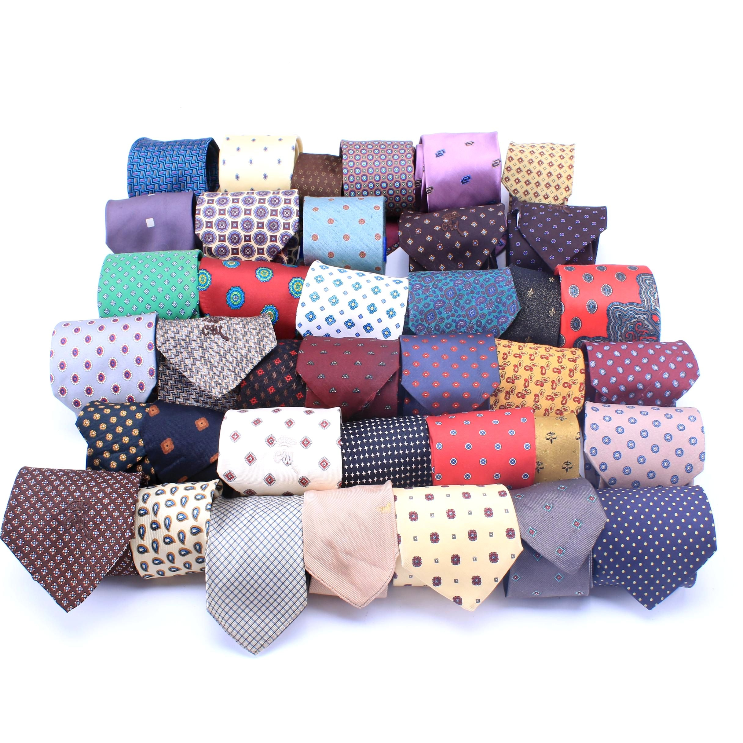 Men's Patterned Tie Collection Featuring Valentino, Yves Saint Laurent and More