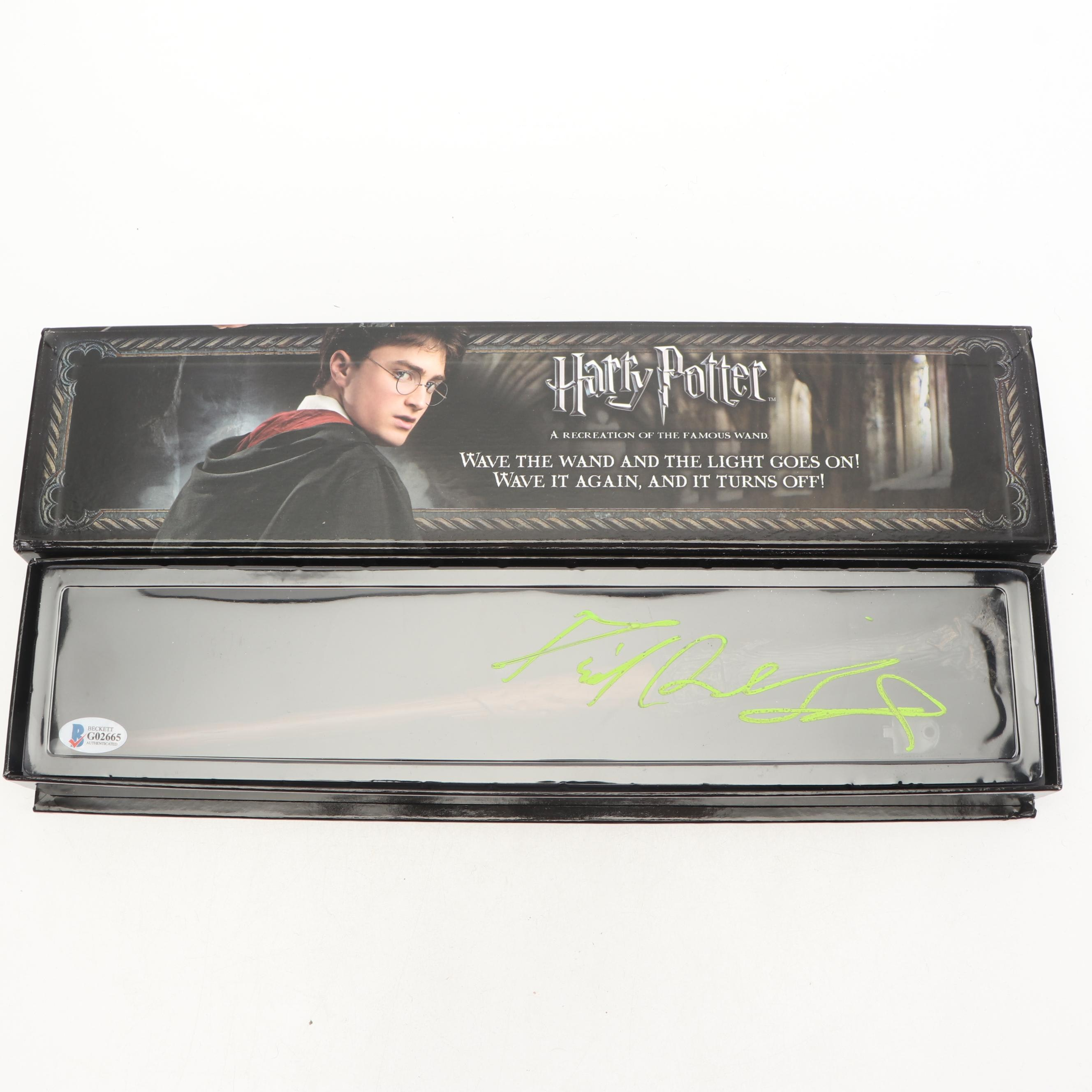 Daniel Radcliffe Signed Illuminating Wand Beckett COA