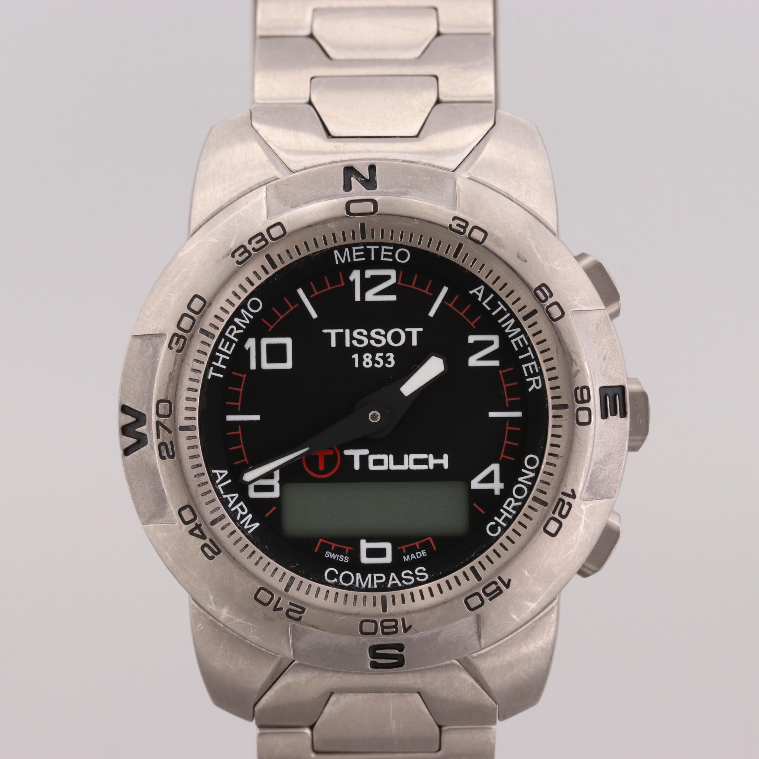 Tissot T-Touch Titanium Quartz Multifunction Wristwatch