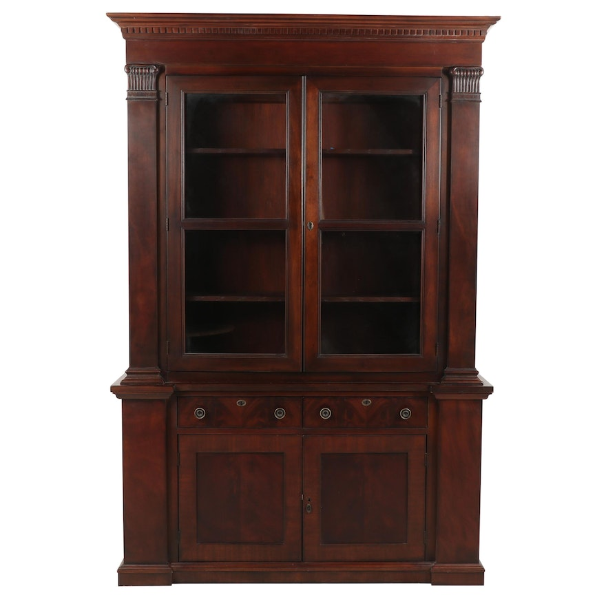 Covington Park Collection By Drexel Heritage Illuminated Wooden Cabinet