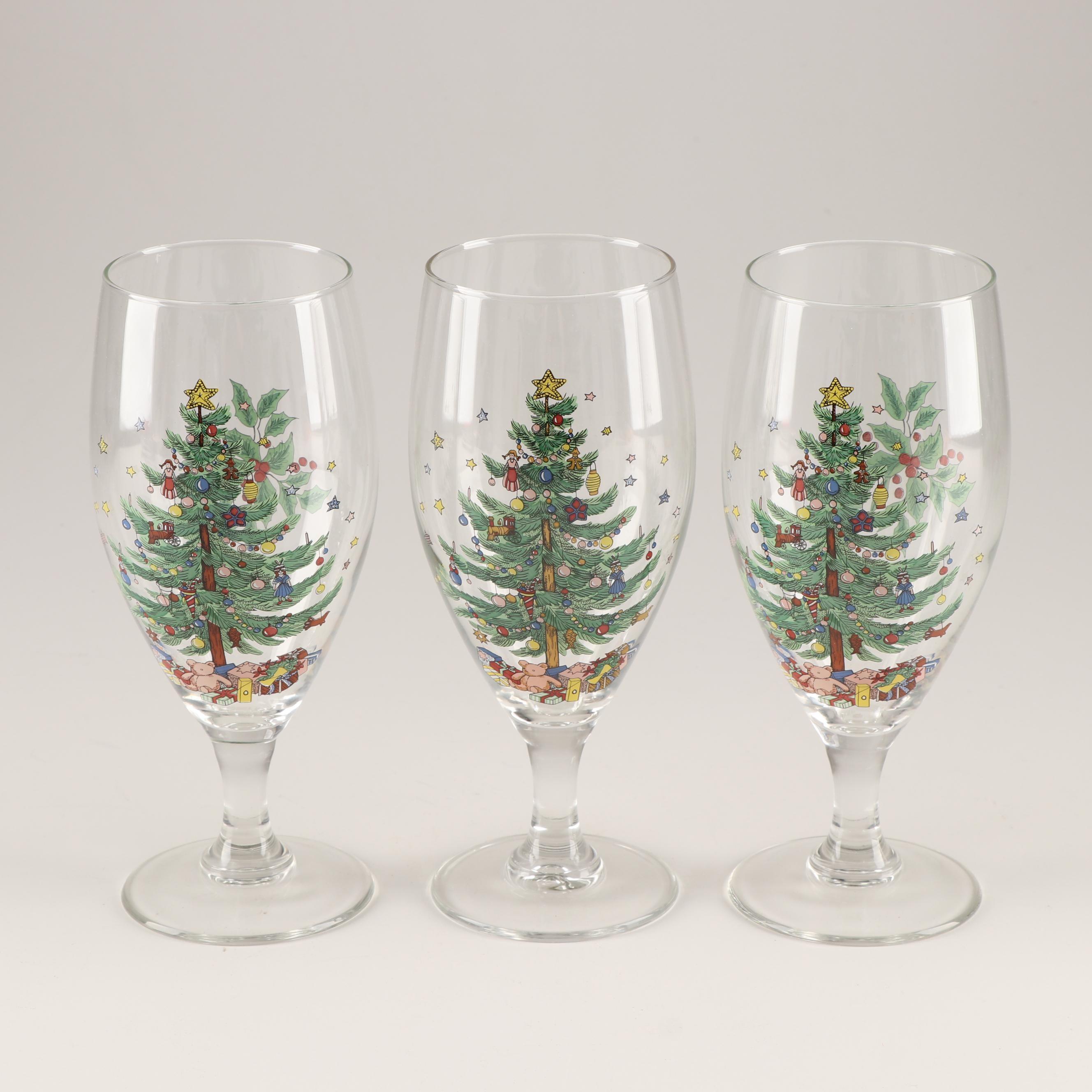 "Spode ""Christmas Tree"" Water Glasses"
