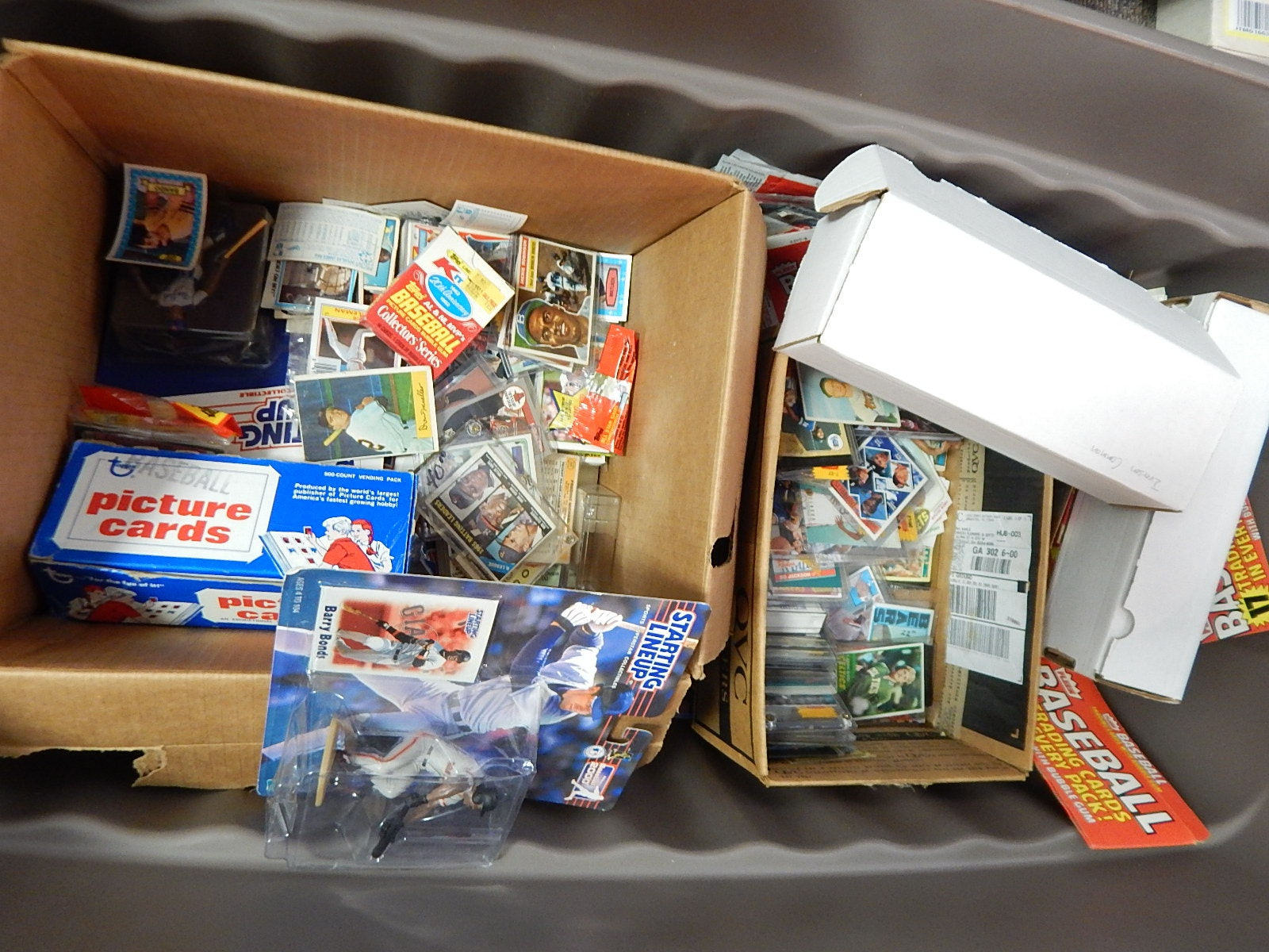Huge Tub Full of Cards from 1950s to 2000s with 1956 Topps Jackie Robinson #30