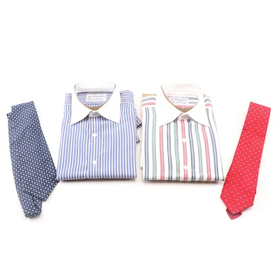 8b81f28f Turnbull & Asser Button-Front Shirts with Liberty and Lauren Ralph Lauren  Ties