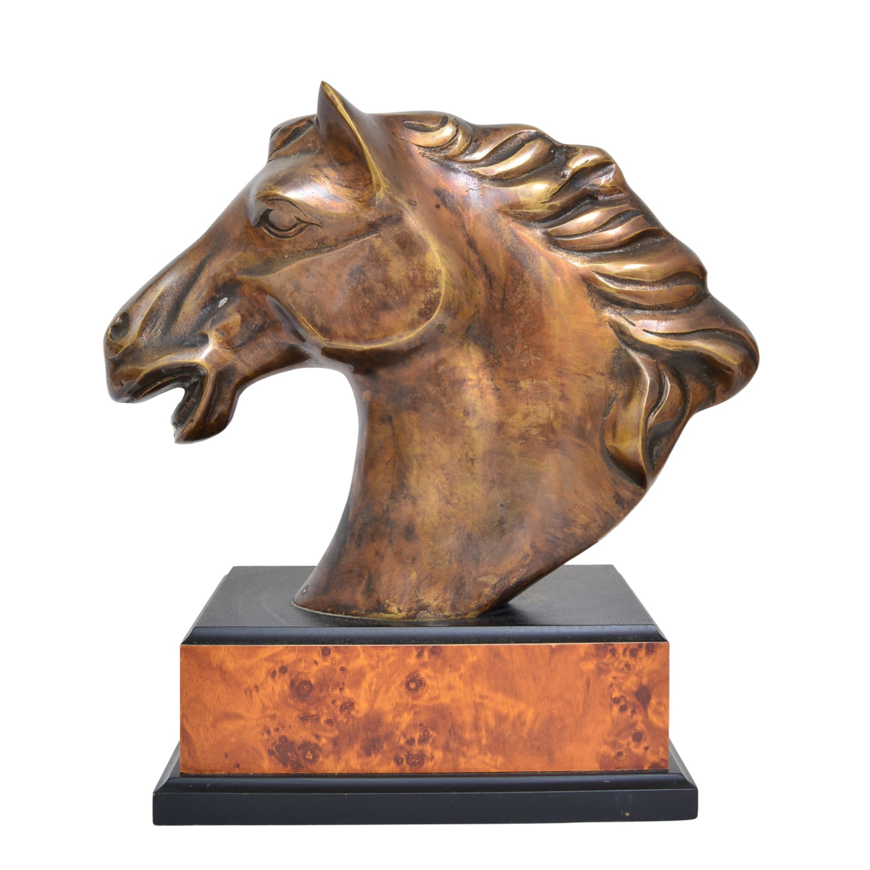 Neoclassic Style Brass Horse Head Figurine