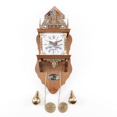 Vintage Emperor Walnut Grandfather Clock Ebth