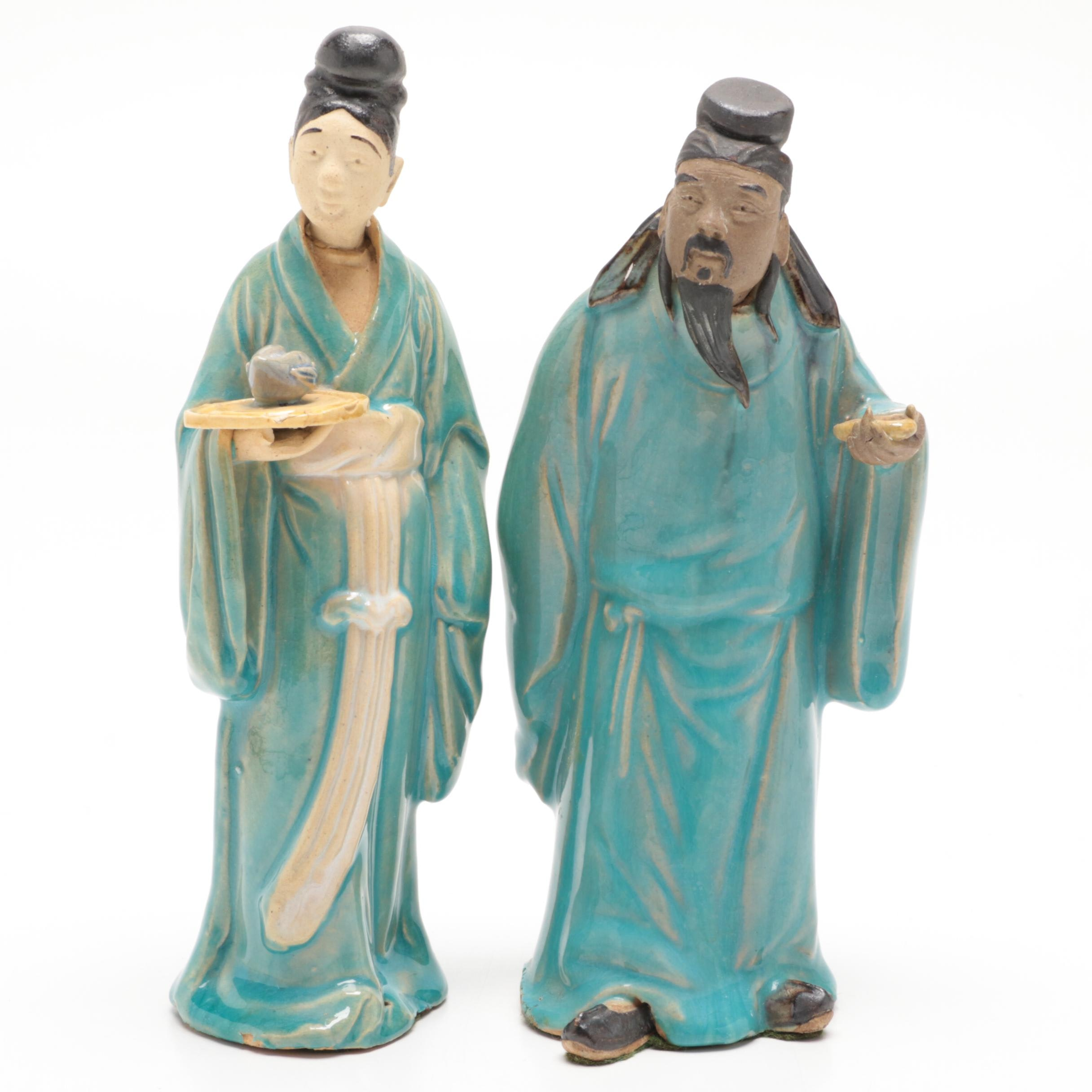 Chinese Shiwan Style Ceramic Figurines, Early 20th Century
