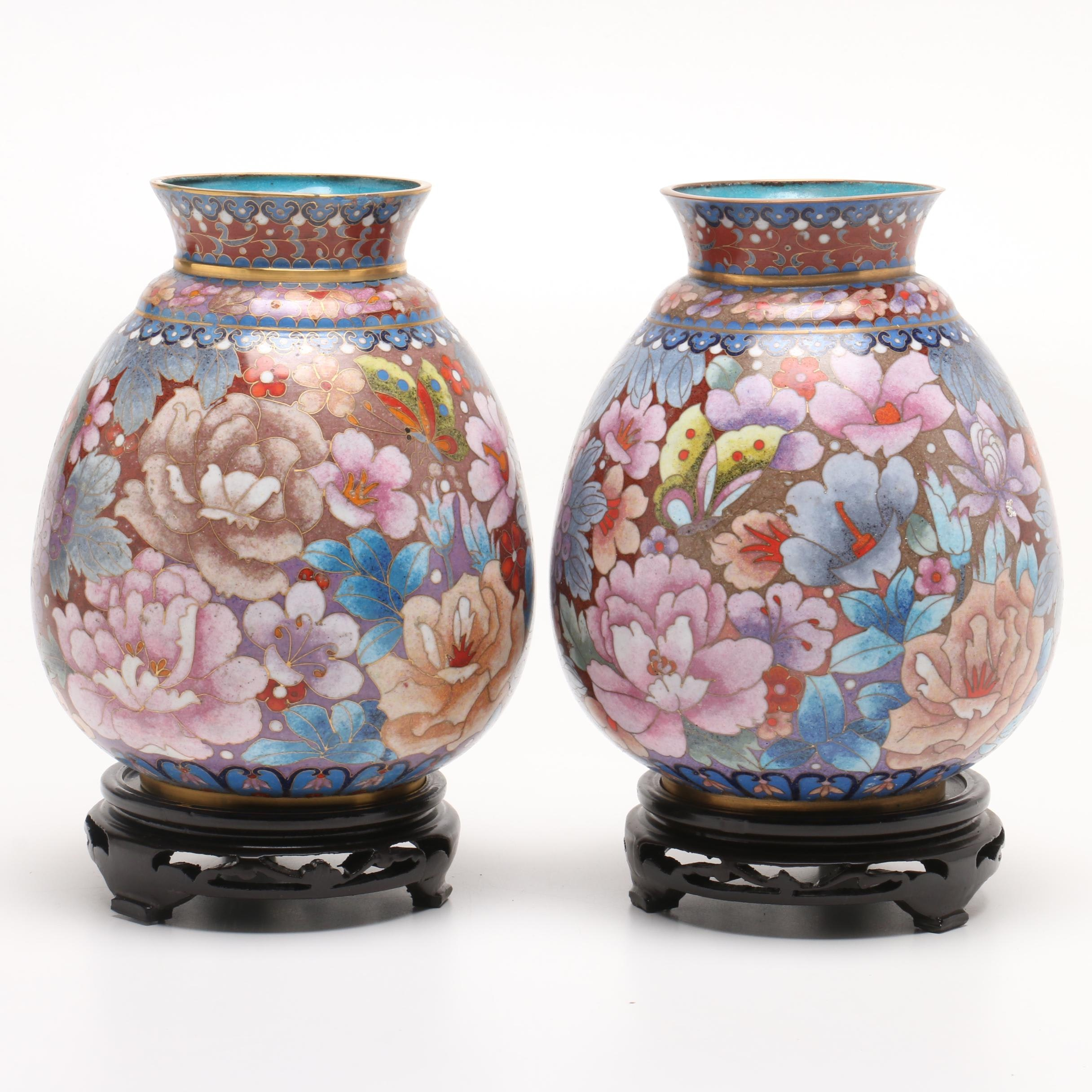 Chinese Cloisonné Vases
