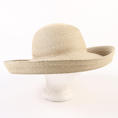 f035f76fdf99e Eric Javits New York Signed and Dated Hampton Wide Brim Packable Sun Hat
