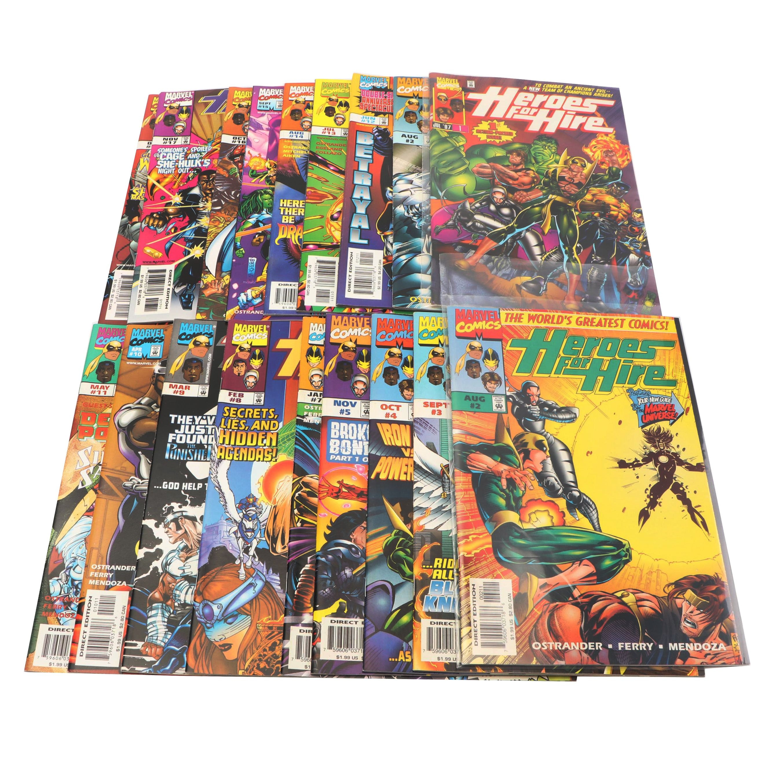 "Modern Age ""Heroes For Hire"" Comic Books"