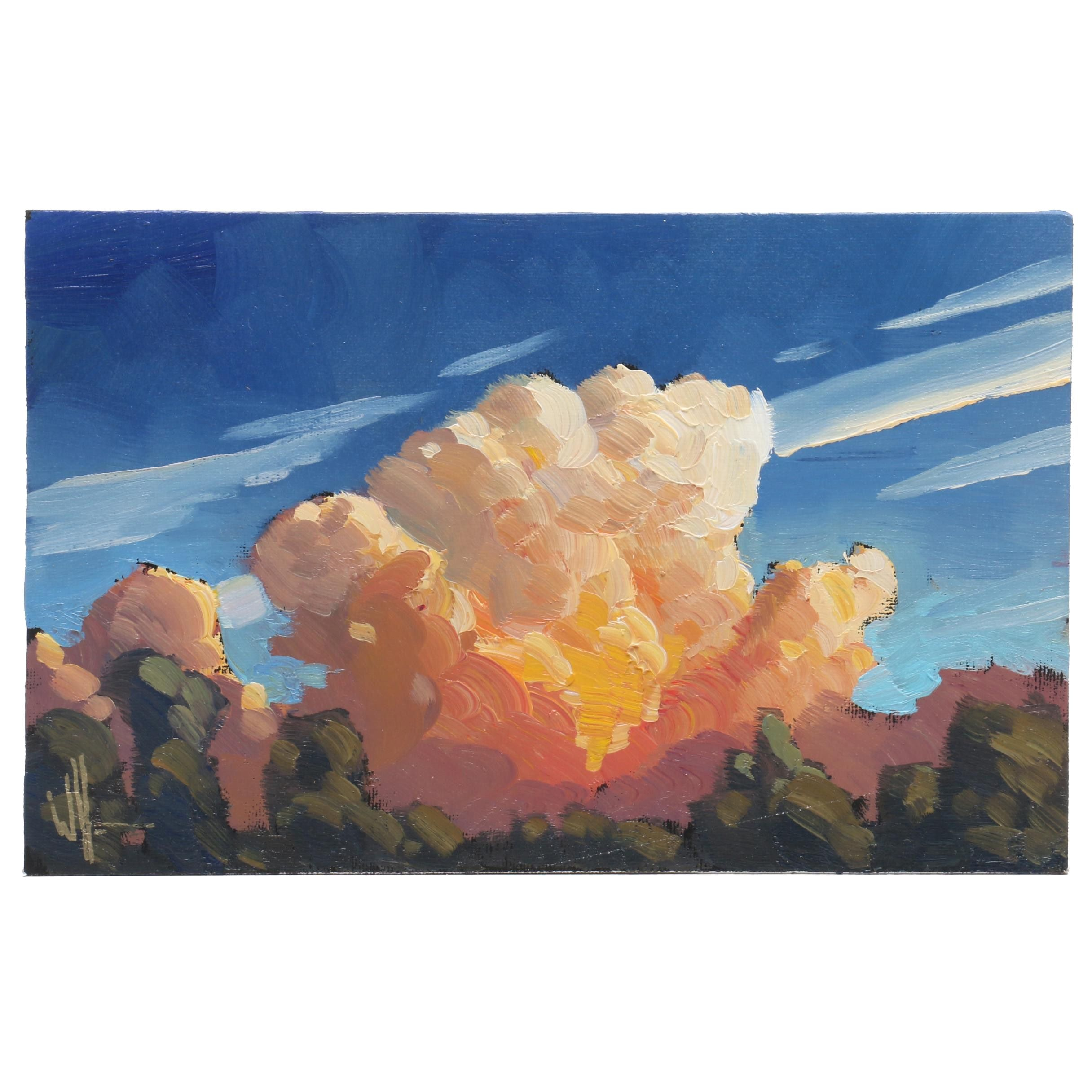 William Hawkins Oil Painting of Cloud Formations