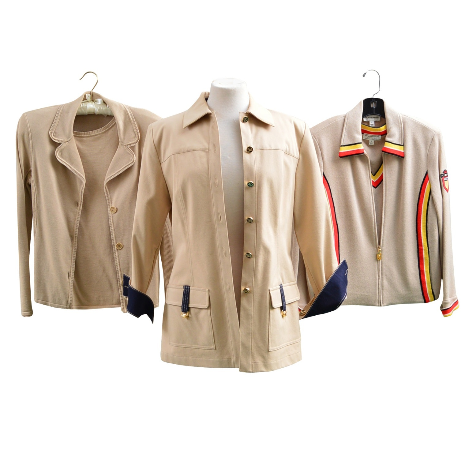St. John Sport Knit Separates and Cotton Jacket, with Piazza Sempione Separates