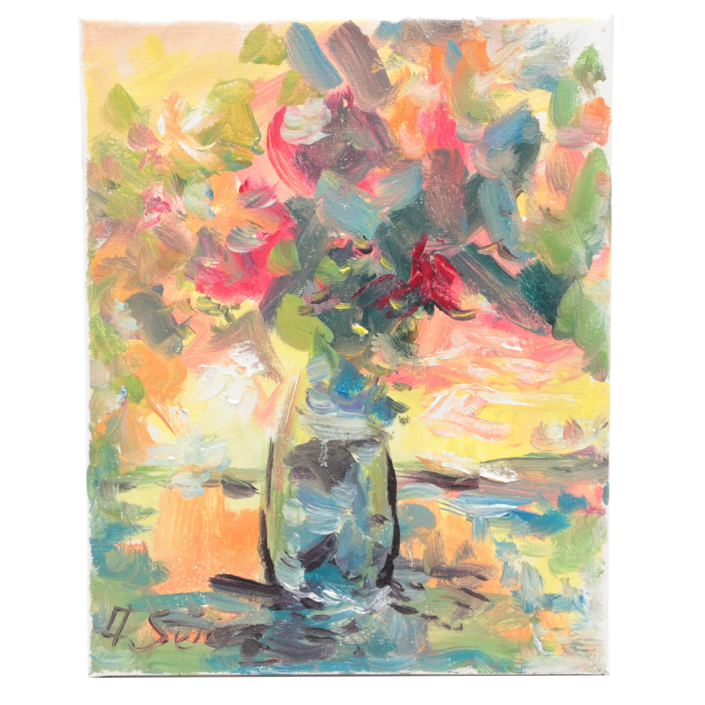 Andrew Semberecki Floral Still Life Oil Painting