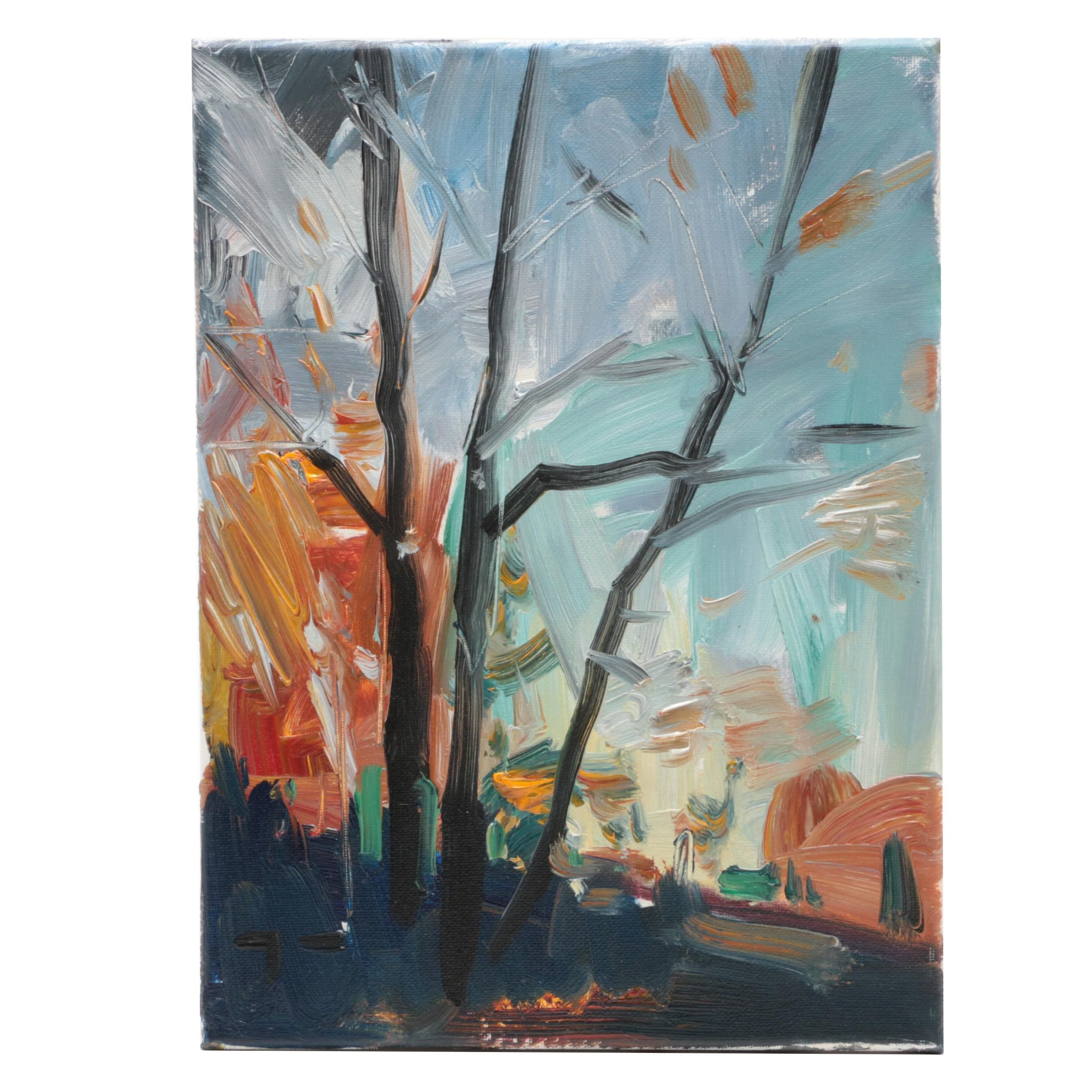 "Jose Trujillo Oil Painting ""Frosty Morning"""